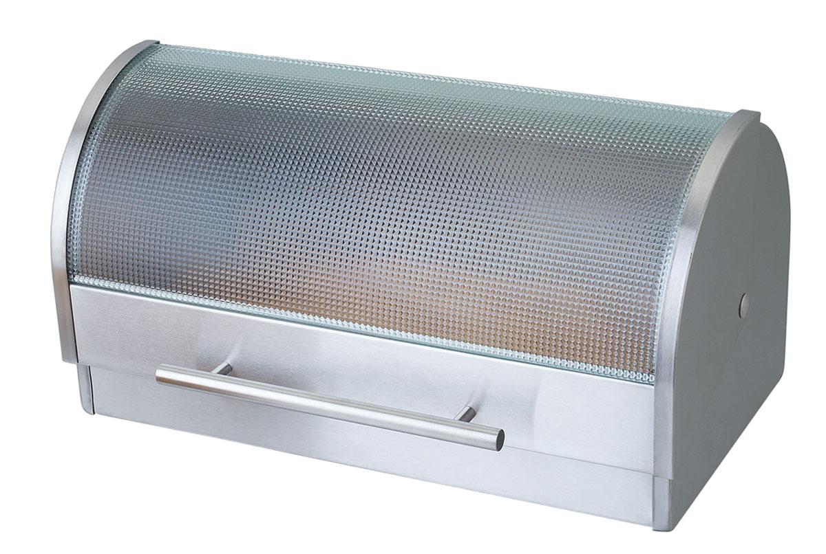 Хлебница Bekker Koch, 40 см х 22 см х 22 смВетерок 2ГФХлебница Bekker Koch изготовлена из высококачественной нержавеющей стали. Изделие оснащено крышкой из матового стекла. Хлебница предназначена для хранения хлеба, чипсов, кексов и других хлебобулочных изделий. В ней продукты долго сохраняют привлекательный внешний вид, остаются свежими и хрустящими. Крышка плавно открывается и герметично закрывается. Вместительность, функциональность и стильный дизайн позволят хлебнице стать не только незаменимым аксессуаром на кухне, но и предметом украшения интерьера. В ней хлеб всегда останется свежим и вкусным.