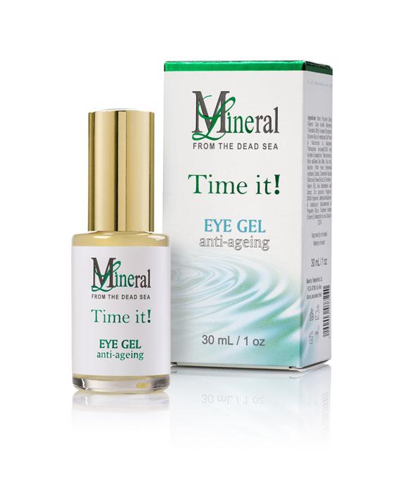 Mineraline Омолаживающий гель для глаз, 30 млFS-00897Новый омолаживающий гель вокруг глаз Time It! значительно уменьшает глубину морщин вокруг глаз, при этом активно тонизирует и увлажняет кожу. Высокое содержание минералов Мертвого моря, а также последние научные разработки Унипросин PS-18 и Унипротект PT-3, позволяют активным веществам глубоко проникать в кожу, нормализуя обмен веществ в клетках и поддерживая необходимый водный баланс. Формула геля также усилена натуральными экстрактами Алоэ Вера и моркови, что придает ему регенерирующее, противоотечное и успокоительное действие, а также восстанавливает кожу, делая ее вновь упругой и эластичной. Содержит УФ-фильтры.