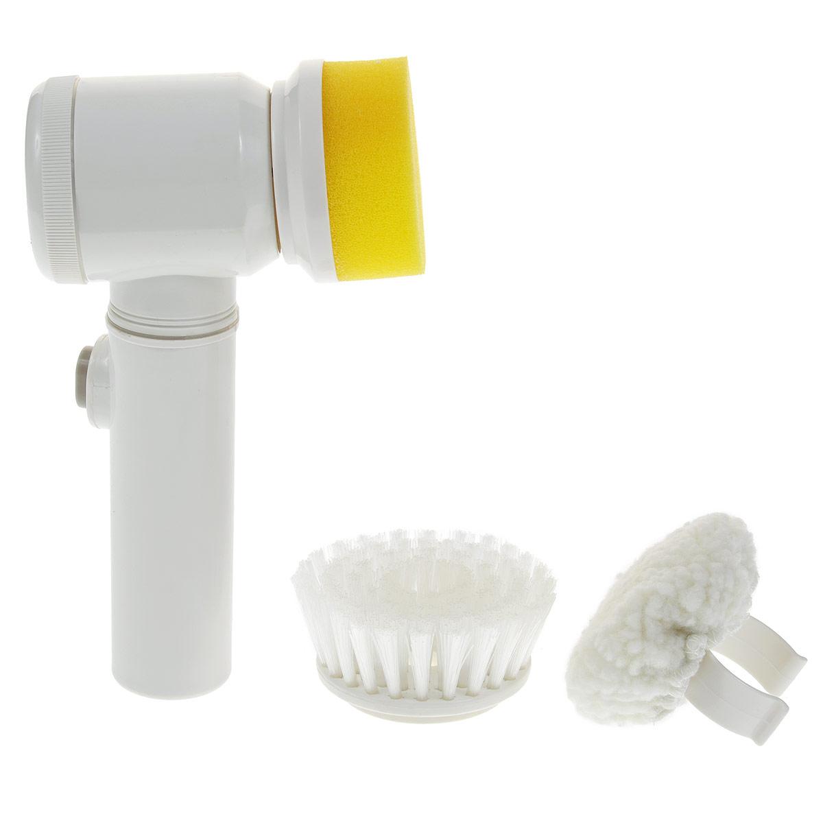 Щетка для чистки Bradex Золушка, электрическаяCLP446Каждая хозяйка знает, сколько усилий приходится прикладывать, чтобы содержать дом в чистоте. Особенно много внимания приходится уделять чистке и полировке различных поверхностей (раковины, столешницы, ванная и туалет и так далее). Нам не только приходится прилагать для этого много усилий, но также подвергать повреждениям кожу рук, постоянно контактируя с чистящими химикатами.С помощью уникальной электрической щетки Bradex Золушка вы не только сохраните нежную и чистую кожу рук без защитных перчаток и кремов, но также быстро и эффективно очистите практически любую поверхность от загрязнений.В комплект к базовой щетке идут три вида насадок (щетка, полировочная щетка и губка), которые помогут вам справиться даже с самыми стойкими и застарелыми загрязнениями на плитке, кафеле или эмали. Насадки можно использовать как отдельно, так и в сочетании с различными чистящими средствами.С помощью электрической щетки Bradex Золушка вы удалите с поверхностей въевшиеся разводы, стойкие пятна, придадите ей блеск и идеальную чистоту.Имеется удобный крючок, чтобы повесить щетку на стену и тем самым оптимизировать пространство.Необходимо докупить 4 батареи напряжением 1,5V типа АА (не входят в комплект).Размер щетки (без учета насадок): 20 см х 7,5 см х 6,5 см.Диаметр насадки-губки: 7 см.Диаметр насадки-щетки: 8 см.