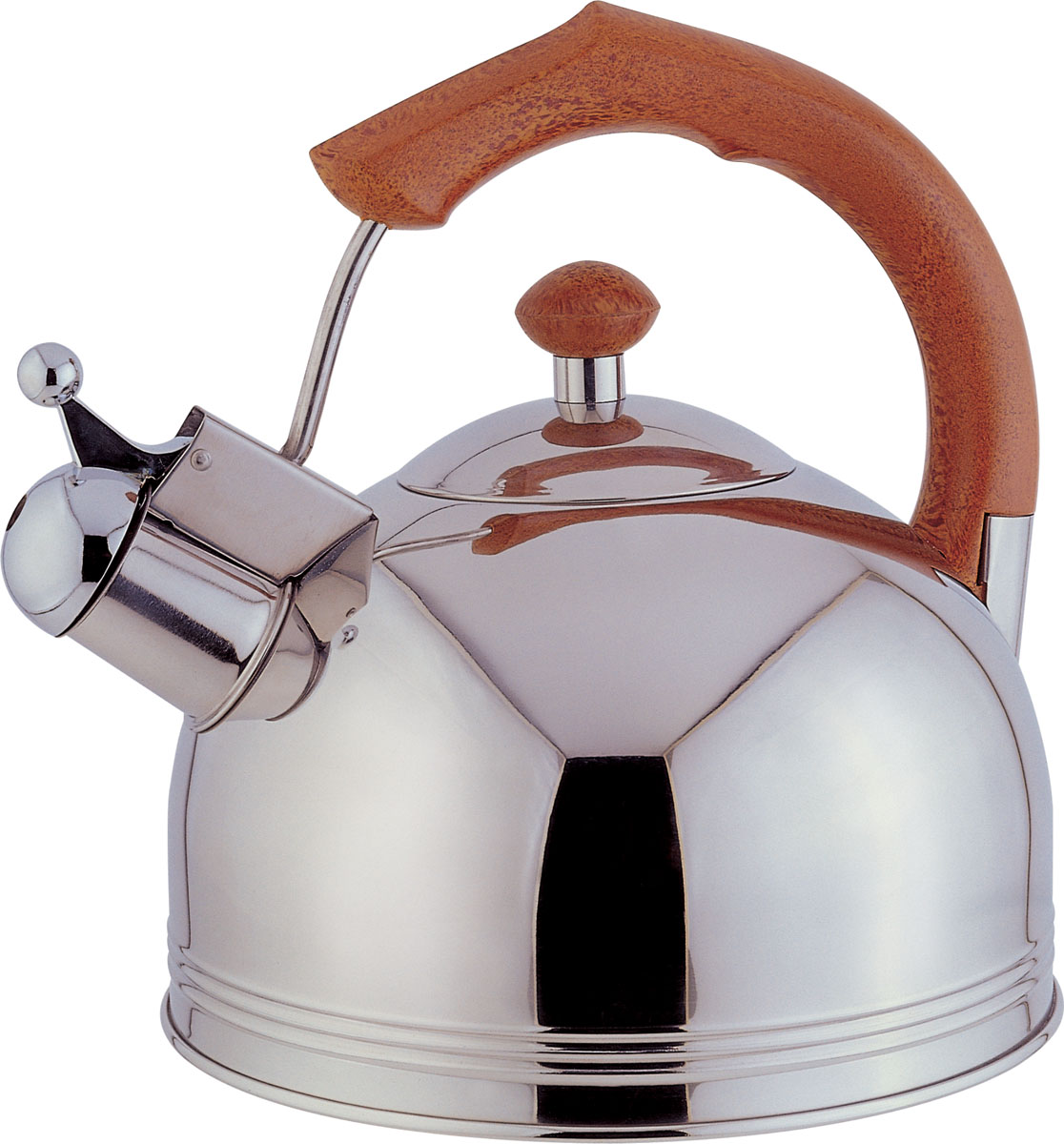 Чайник Bekker Koch со свистком, 3 л. BK-S31794672Чайник Bekker Koch выполнен из высококачественной нержавеющей стали, что обеспечивает долговечность использования. Внешнее зеркальное покрытие придает приятный внешний вид. Пластиковая фиксированная ручка делает использование чайника очень удобным и безопасным. Чайник снабжен свистком и устройством для открывания носика. Изделие оснащено капсулированным дном для лучшего распространения тепла.Можно мыть в посудомоечной машине. Пригоден для всех видов плит кроме индукционных. Высота чайника (без учета крышки и ручки): 11,5 см.Диаметр основания: 20 см. Толщина стенки: 3 мм.