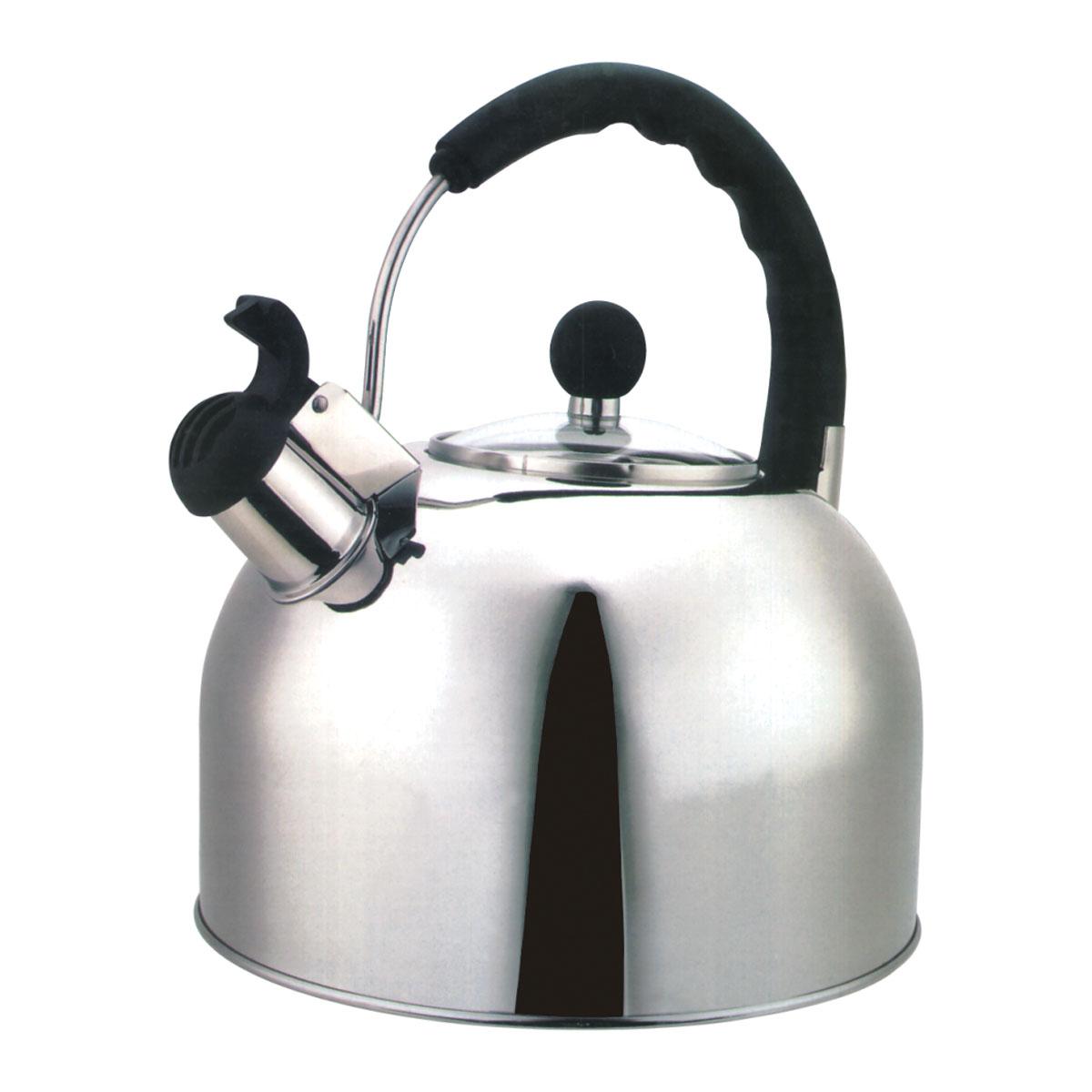 Чайник Bekker Koch со свистком, 4,5 л115510Чайник Bekker Koch выполнен из высококачественной нержавеющей стали, что обеспечивает долговечность использования. Внешнее зеркальное покрытие придает приятный внешний вид. Металлическая фиксированная ручка с пластиковой вставкой делает использование чайника очень удобным и безопасным. Чайник снабжен стеклянной крышкой, свистком и устройством для открывания носика. Изделие оснащено капсулированным дном для лучшего распространения тепла. Можно мыть в посудомоечной машине. Пригоден для всех видов плит кроме индукционных.