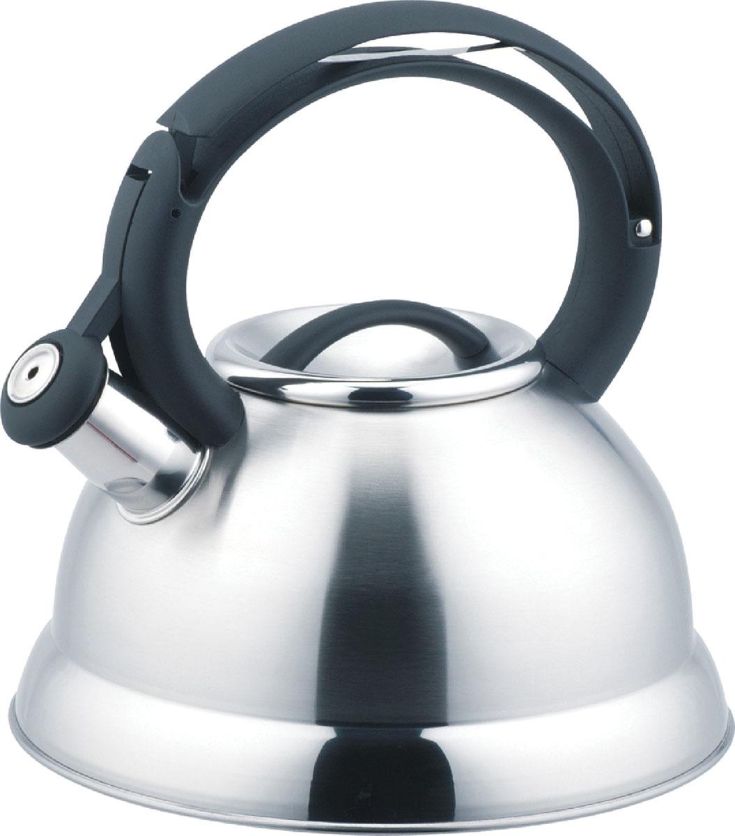 Чайник Bekker De Luxe со свистком, 2,6 л. BK-S404VT-1520(SR)Чайник Bekker De Luxe изготовлен из высококачественной нержавеющей стали 18/10. Поверхность матовая с зеркальной полосой по нижнему краю. Капсулированное дно распределяет тепло по всей поверхности, что позволяет чайнику быстро закипать. Эргономичная фиксированная ручка выполнена из бакелита черного цвета. Носик оснащен откидным свистком, который подскажет, когда вода закипела. Свисток открывается нажатием на рукоятку. Подходит для всех типов плит, включая индукционные. Можно мыть в посудомоечной машине.