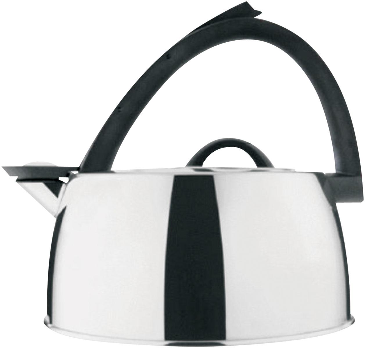 Чайник Bekker De Luxe со свистком, 3 л. BK-S41954 009312Чайник Bekker De Luxe изготовлен из высококачественной нержавеющей стали 18/10 с зеркальной полировкой. Капсулированное дно распределяет тепло по всей поверхности, что позволяет чайнику быстро закипать. Эргономичная фиксированная рукоятка выполнена из бакелита черного цвета. Носик оснащен откидным свистком, который подскажет, когда вода закипела. Свисток открывается и закрывается рычагом на рукоятке. Оригинальный дизайн эффектно оформит интерьер кухни.Подходит для всех типов плит, кроме индукционных. Можно мыть в посудомоечной машине.