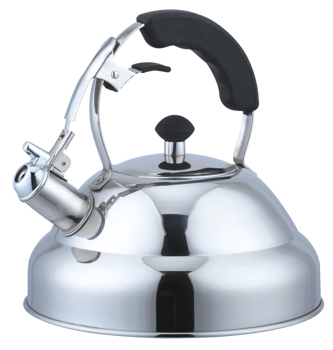 Чайник Bekker Koch со свистком, 3 л. BK-S453641BHLЧайник Bekker Koch изготовлен из высококачественной нержавеющей стали 18/10 с зеркальной полировкой. Цельнометаллическое дно распределяет тепло по всей поверхности, что позволяет чайнику быстро закипать. Эргономичная фиксированная ручка выполнена из нержавеющей стали с силиконовым покрытием черного цвета. Носик оснащен откидным свистком, который подскажет, когда вода закипела. Свисток открывается и закрывается нажатием рычага на рукоятке. Широкое отверстие по верхнему краю позволяет удобно наливать воду.Подходит для всех типов плит, включая индукционные. Можно мыть в посудомоечной машине.