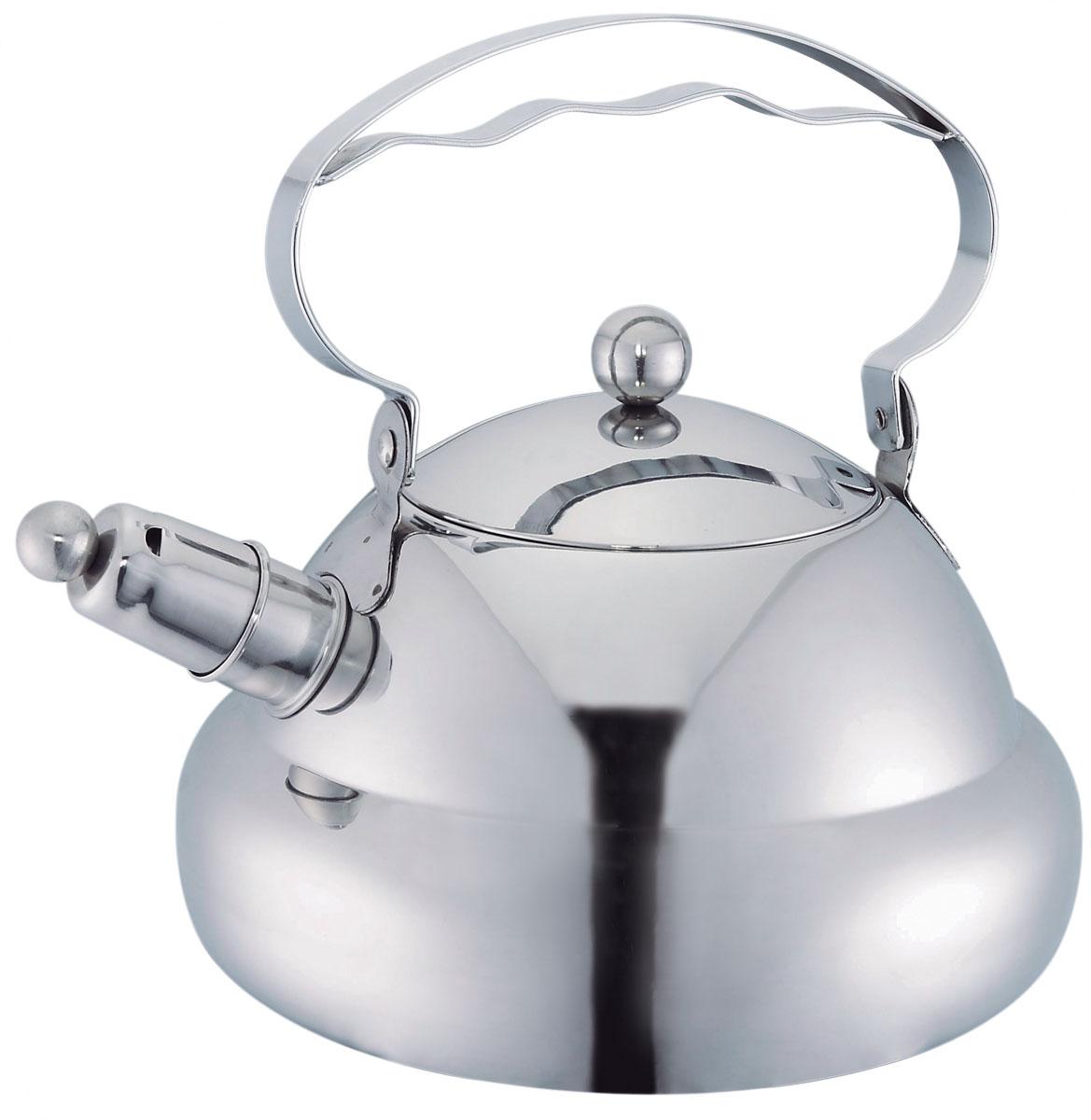 Чайник Bekker Koch со свистком, 3 л. BK-S469115510Чайник Bekker Koch изготовлен из высококачественной нержавеющей стали 18/10 с зеркальной полировкой. Цельнометаллическое дно распределяет тепло по всей поверхности, что позволяет чайнику быстро закипать. Ручка подвижная. Носик оснащен съемным свистком, который подскажет, когда вода закипела. Широкое отверстие по верхнему краю позволяет удобно наливать воду.Подходит для всех типов плит, включая индукционные. Можно мыть в посудомоечной машине.