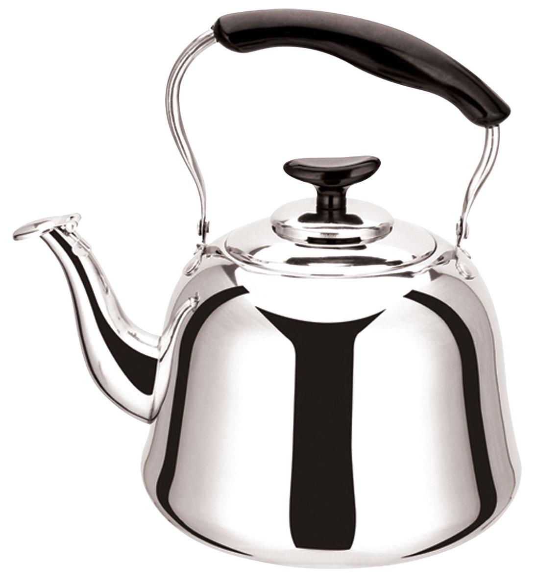 Чайник Bekker Koch со свистком, 5 л. BK-S479VT-1520(SR)Чайник Bekker Koch изготовлен из высококачественной нержавеющей стали с зеркальной полировкой. Цельнометаллическое дно распределяет тепло по всей поверхности, что позволяет чайнику быстро закипать. Эргономичная подвижная ручка выполнена из нержавеющей стали и бакелита черного цвета. Носик оснащен откидным свистком, который подскажет, когда вода закипела. Широкое отверстие по верхнему краю позволяет удобно наливать воду.Подходит для всех типов плит, включая индукционные. Можно мыть в посудомоечной машине.