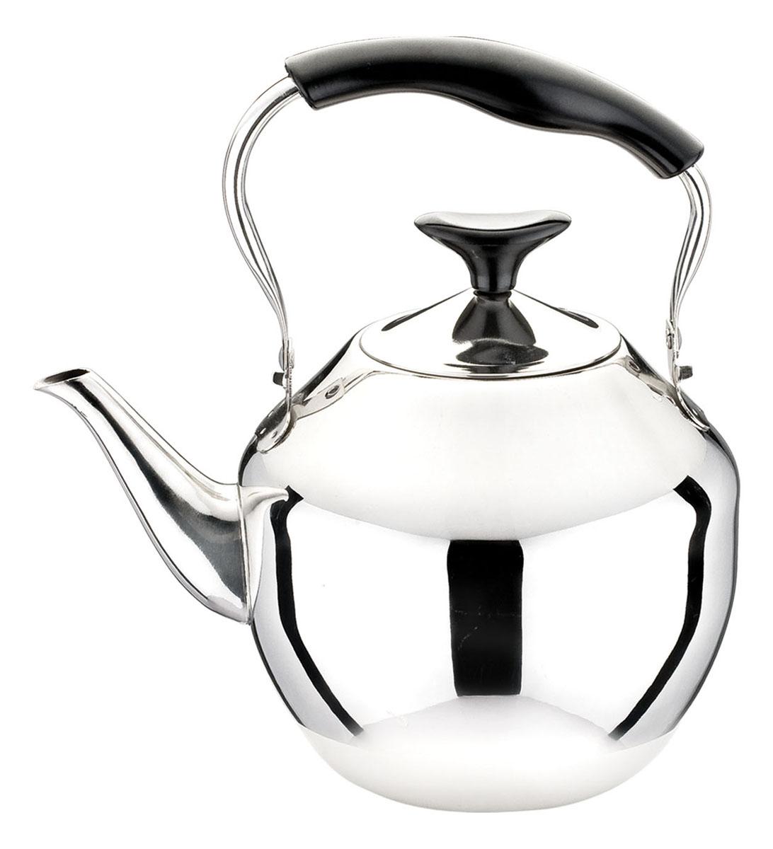 Чайник Bekker Koch, 4 л. BK-S48168/5/4Чайник Bekker Koch изготовлен из высококачественной нержавеющей стали с зеркальной полировкой. Цельнометаллическое дно распределяет тепло по всей поверхности, что позволяет чайнику быстро закипать. Эргономичная подвижная ручка выполнена из нержавеющей стали и бакелита черного цвета. Широкое отверстие по верхнему краю позволяет удобно наливать воду.Подходит для всех типов плит, включая индукционные. Можно мыть в посудомоечной машине.