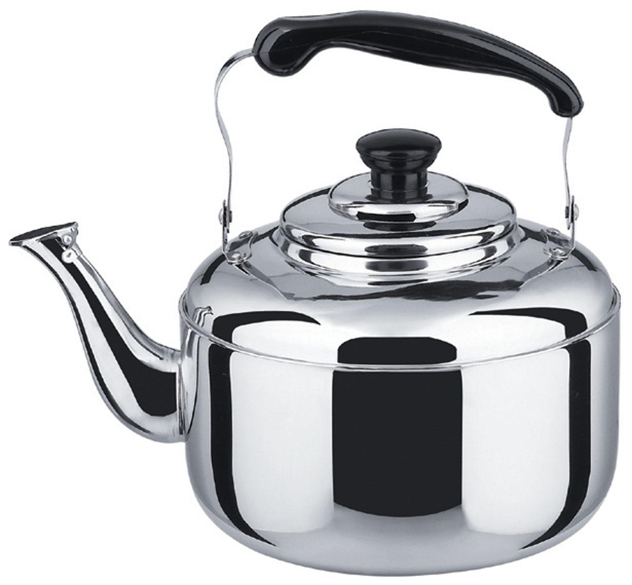 Чайник Bekker Koch со свистком, 2 л. BK-S48554 009312Чайник Bekker Koch изготовлен из высококачественной нержавеющей стали с зеркальной полировкой. Цельнометаллическое дно распределяет тепло по всей поверхности, что позволяет чайнику быстро закипать. Эргономичная подвижная ручка выполнена из нержавеющей стали и бакелита черного цвета. Носик оснащен откидным свистком, который подскажет, когда вода закипела. Широкое отверстие по верхнему краю позволяет удобно наливать воду.Подходит для всех типов плит, включая индукционные. Можно мыть в посудомоечной машине.