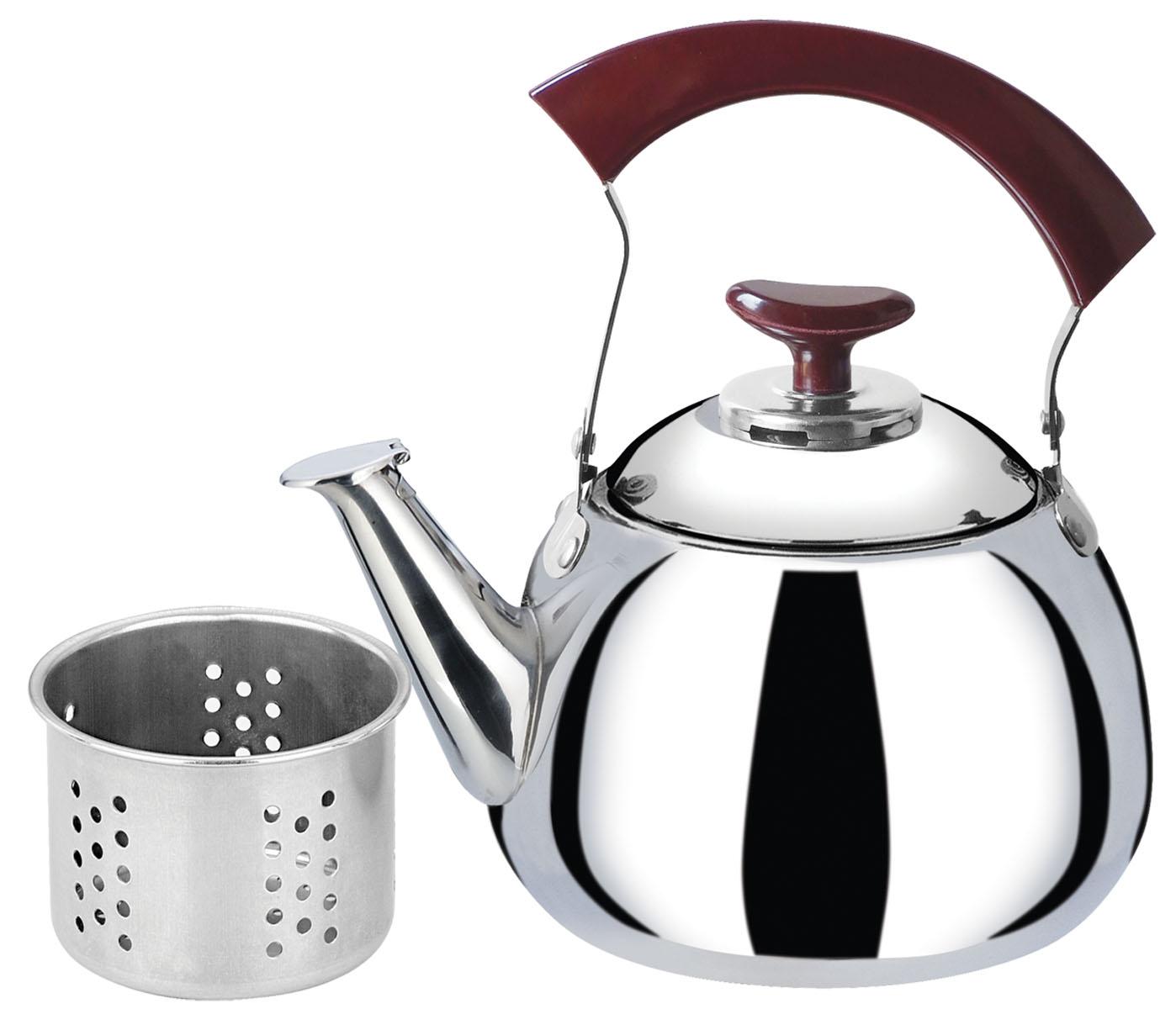 Чайник Bekker, с ситечком, 2 лBK-S508Чайник Bekker выполнен из высококачественной нержавеющей стали, что обеспечивает долговечность использования. Внешнее зеркальное покрытие придает приятный внешний вид. Бакелитовая ручка делает использование чайника очень удобным и безопасным. Чайник снабжен ситечком для заваривания. Можно мыть в посудомоечной машине. Пригоден для всех видов плит, включая индукционные.