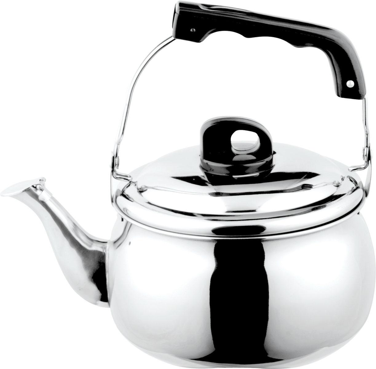 Чайник Bekker, со свистком, 5 л94672Чайник Bekker выполнен из высококачественной нержавеющей стали, что обеспечивает долговечность использования. Внешнее зеркальное покрытие придает приятный внешний вид. Бакелитовая ручка делает использование чайника очень удобным и безопасным. Цельнометаллическое дно способствует равномерному распространению тепла. Чайник снабжен свистком. Можно мыть в посудомоечной машине. Пригоден для всех видов плит, включая индукционные.