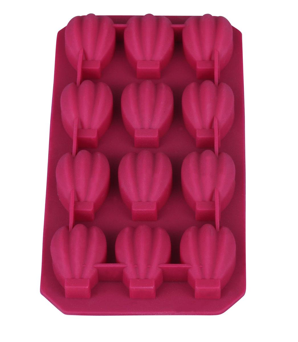 Форма для льда Bekker Орешки, силиконовая, цвет: вишневый, 12 ячеекFS-91909Форма для льда Bekker Орешки выполнена из силикона. На одном листе расположены 12 формочек в виде орешков. Благодаря тому, что формочки изготовлены из силикона, готовый лед вынимать легко и просто. Чтобы достать льдинки, эту форму не нужно держать под теплой водой или использовать нож.Теперь на смену традиционным квадратным пришли новые оригинальные формы для приготовления фигурного льда, которыми можно не только охладить, но и украсить любой напиток. В формочки при заморозке воды можно помещать ягодки, такие льдинки не только оживят коктейль, но и добавят радостного настроения гостям на празднике. Замораживание до -40 С.Подходит для чистки в посудомоечной машине. Не использовать для чистки абразивными средствами, скребки, щетки.