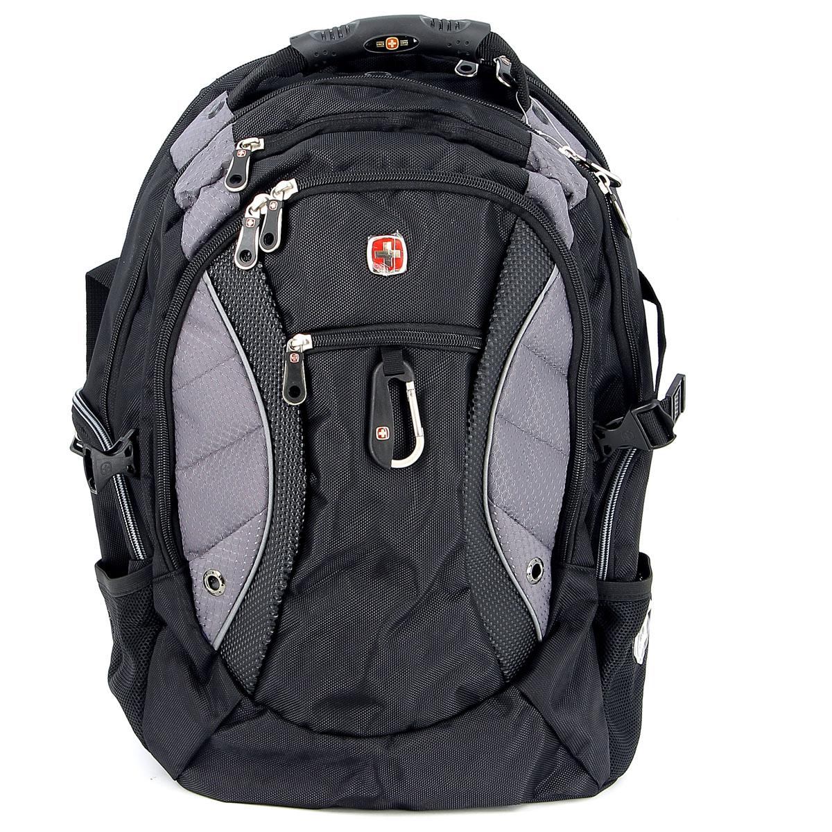 Рюкзак Wenger Neo, цвет: черный, серый, 35 см х 23 см х 48 см, 39 л1015215