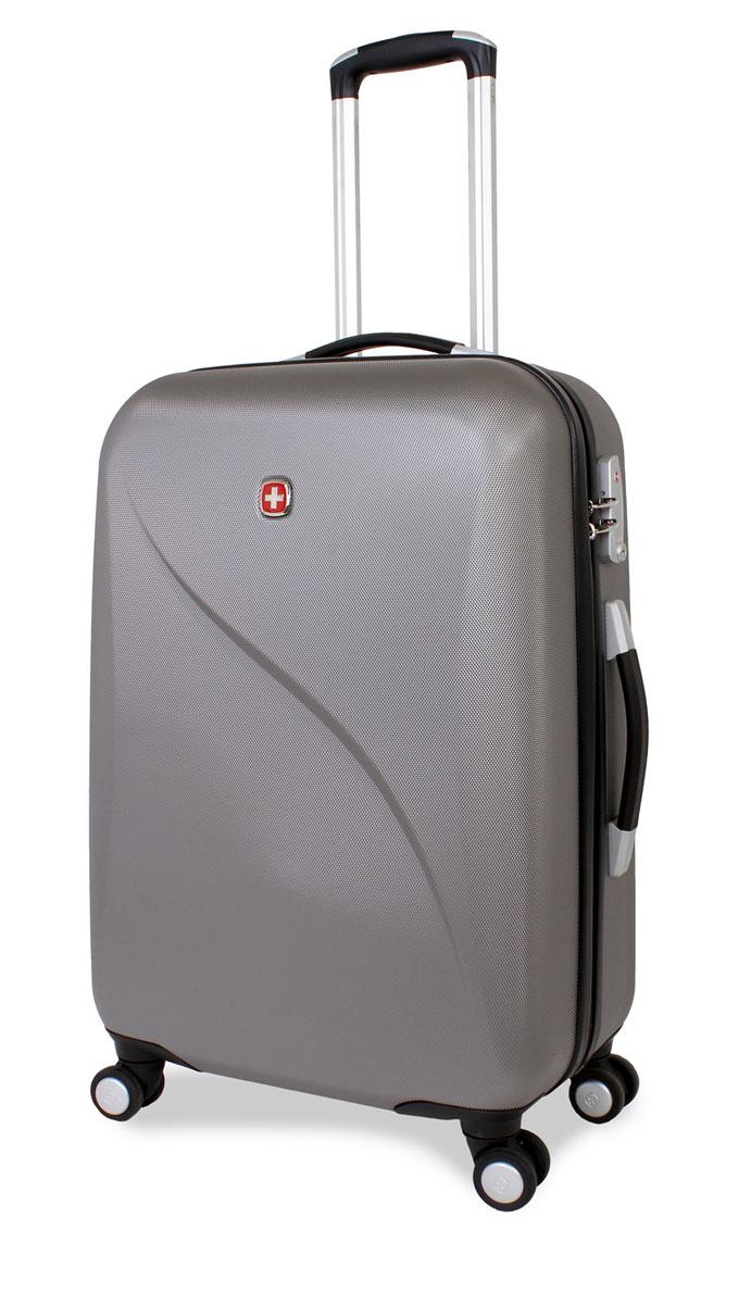 "Чемодан SwissGear ""Evo Lite"", цвет: серый, 40 см х 23 см х 60 см, 55 л"