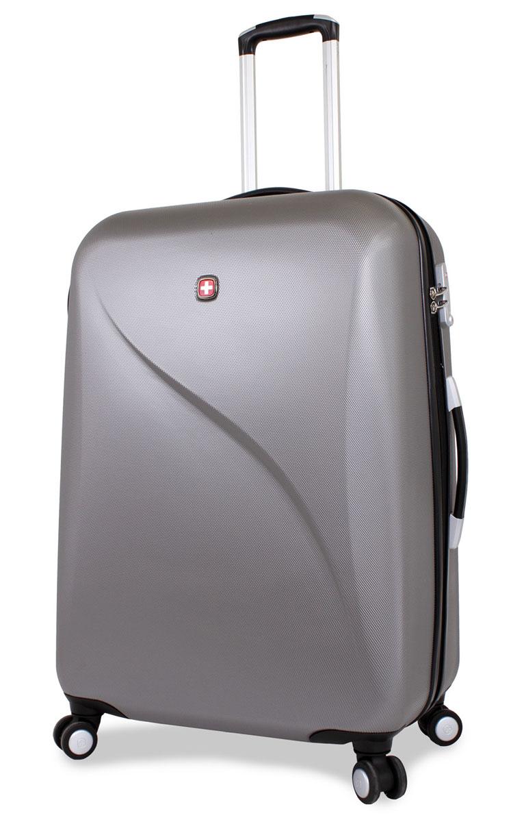 """Чемодан SwissGear """"Evo Lite"""", цвет: серый, 48 см x 28 см x 69 см, 92 л"""