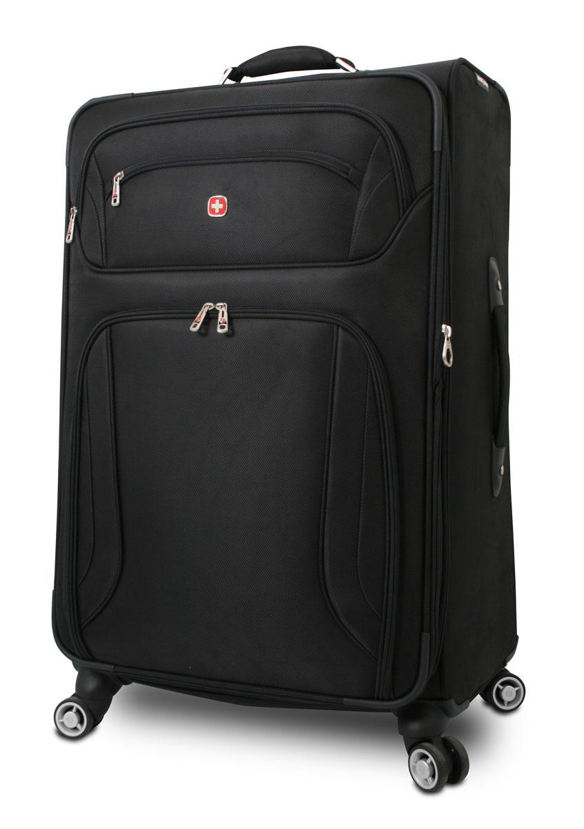 Чемодан Wenger Zurich II, цвет: черный, 48 см x 30 см x 72 см, 104 л7895202177Wenger Zurich II отличает эргономичность, высокое качество и стильный дизайн. Прочный и удобный в использовании, чемодан прекрасно подойдет для деловых и туристических поездок. В производстве чемодана использован высококачественный износоустойчивый полиэстер толщиной 400 x 350 денье. Модель оснащена прочной фурнитурой, произведенной из оцинкованного металла. Легкая управляемость багажом обеспечивается системой 8 колес, способных вращаться на 360°.Особенности чемодана:Высокая мобильность и легкость в управлении обеспечивается 8 колесами, вращающимися на 360°. Алюминиевая телескопическая ручка с фиксатором гарантирует исключительное удобство в управлении чемоданом.Сетчатый карман на молнии для мелких предметов.Регулируемые ремни для фиксации багажа.Съемный несессер.Встроенный отсек для именной карточки. Увеличение вместимости: чемодан может быть дополнительно расширен на 5 см.По всем вопросам гарантийного и постгарантийного обслуживания рюкзаков, чемоданов, спортивных и кожаных сумок, а также портмоне марок Wenger и SwissGear вы можете обратиться в сервис-центр, расположенный по адресу: г. Москва, Саввинская набережная, д.3. Тел: (495) 788-39-96, (499) 248-56-56, ежедневно с 9:00 до 21:00. Подробные условия гарантийного обслуживания приведены в гарантийном талоне, поставляемым в комплекте с каждым изделием. Бесплатный ремонт изделий производится при условии предоставления гарантийного талона и товарного/кассового чека, подтверждающего дату покупки.