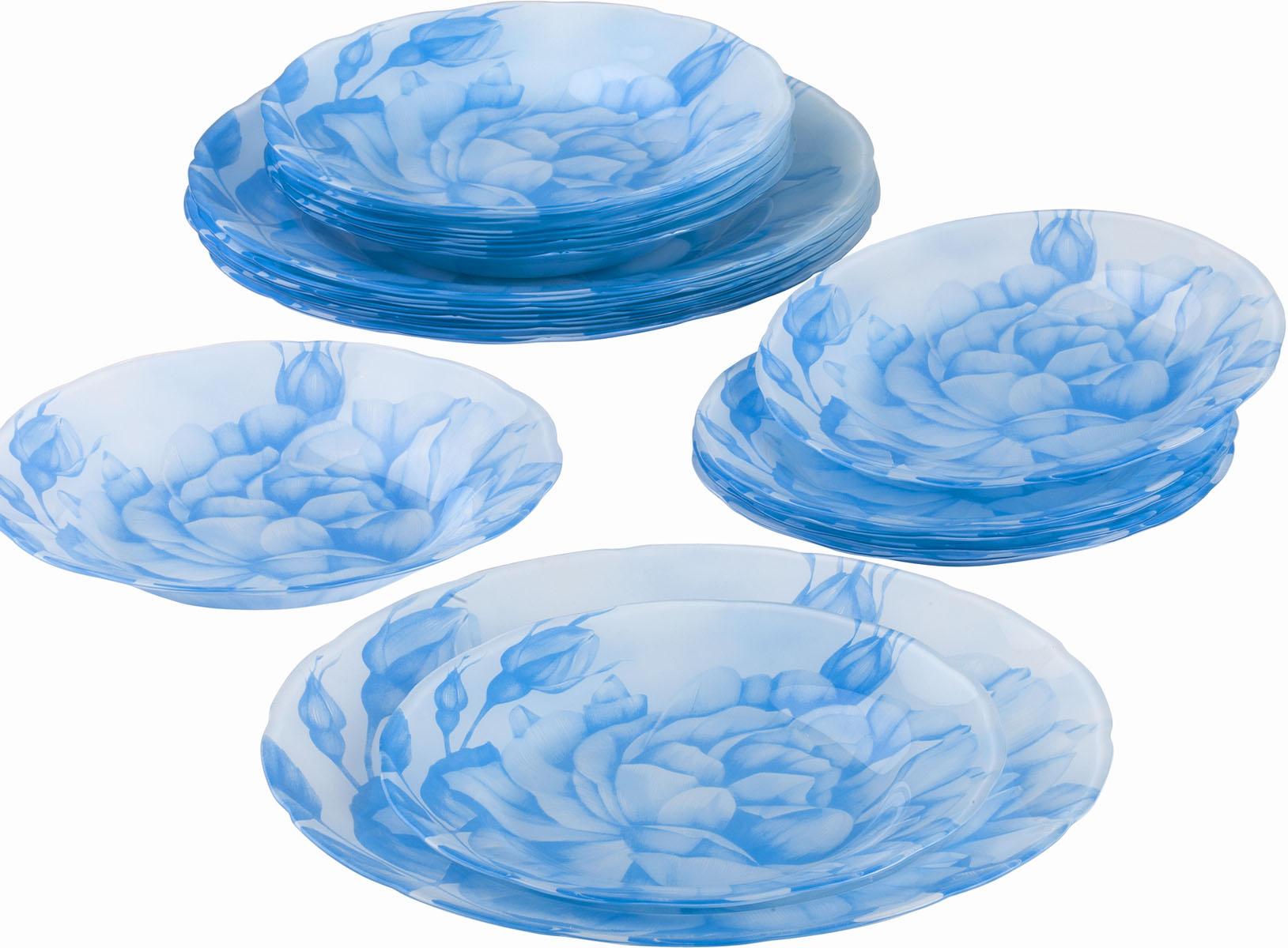 Сервиз обеденный Bekker Koch, 18 предметов. BK-9906VT-1520(SR)Обеденный сервиз Bekker Koch, изготовленный из высококачественного стекла, состоит из 6 суповых тарелок, 6 обеденных тарелок и 6 десертных тарелок. Изделия декорированы ярким изображением цветов. Такой сервиз придется по вкусу любителям классики, и тем, кто предпочитает утонченность и изысканность. Набор эффектно украсит стол к обеду, а также прекрасно подойдет для торжественных случаев.Не рекомендуется мыть в посудомоечной машине.