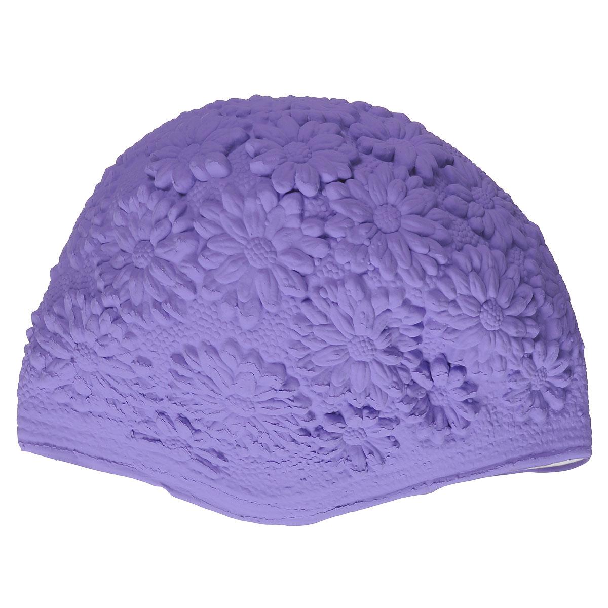 Шапочка для плавания MadWave Hawaii Chrysanthemum, женская, цвет: пурпурный00020226Латексная шапочка для плавания MadWave Hawaii Chrysanthemum декорирована цветочным рельефом. Имеет превосходную эластичность и высокий уровень комфорта. Высококачественный материал обеспечивает долгий срок службы. Пузырьковая поверхность уменьшает площадь соприкосновения с волосами.Обхват головы: 53 см.