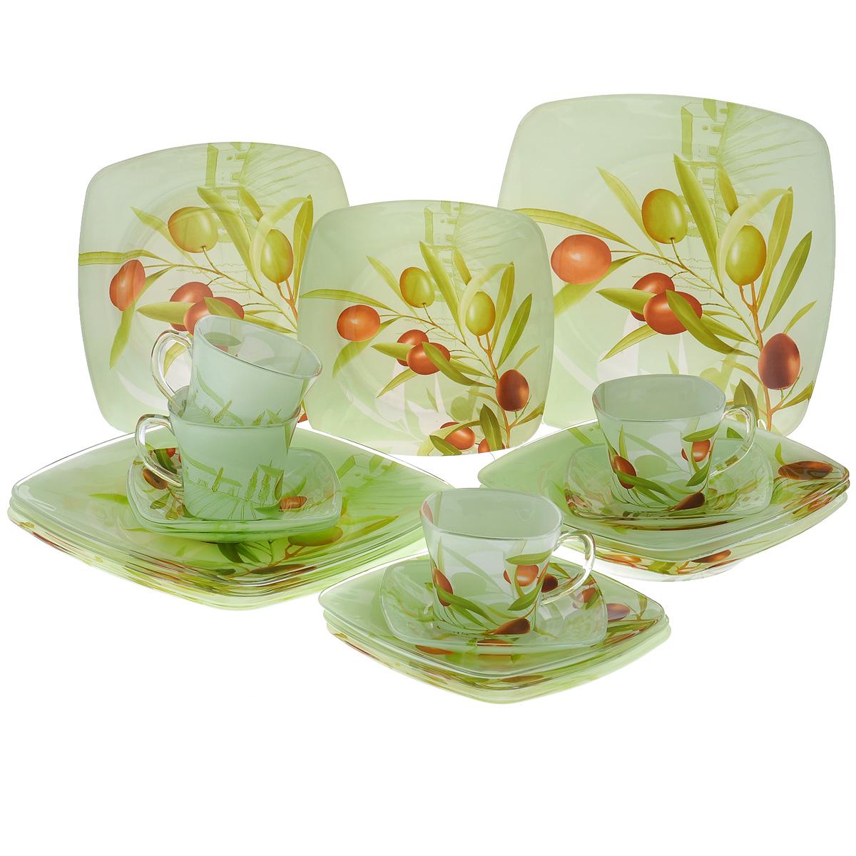 "Набор посуды ""Оливки"", 20 предметов, Porcelain Industry"