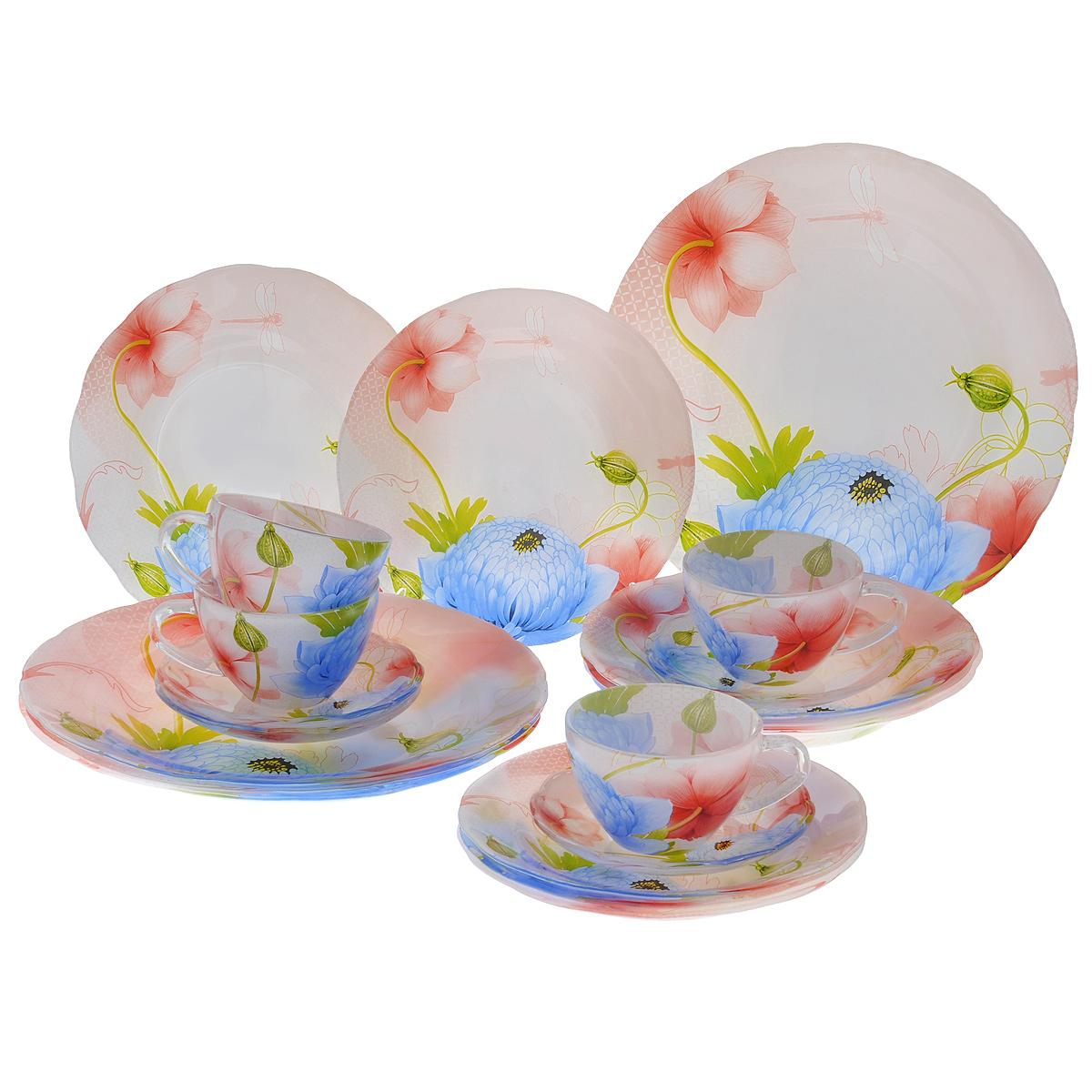 "Набор посуды ""Кувшинки"", 20 предметов, Porcelain Industry"