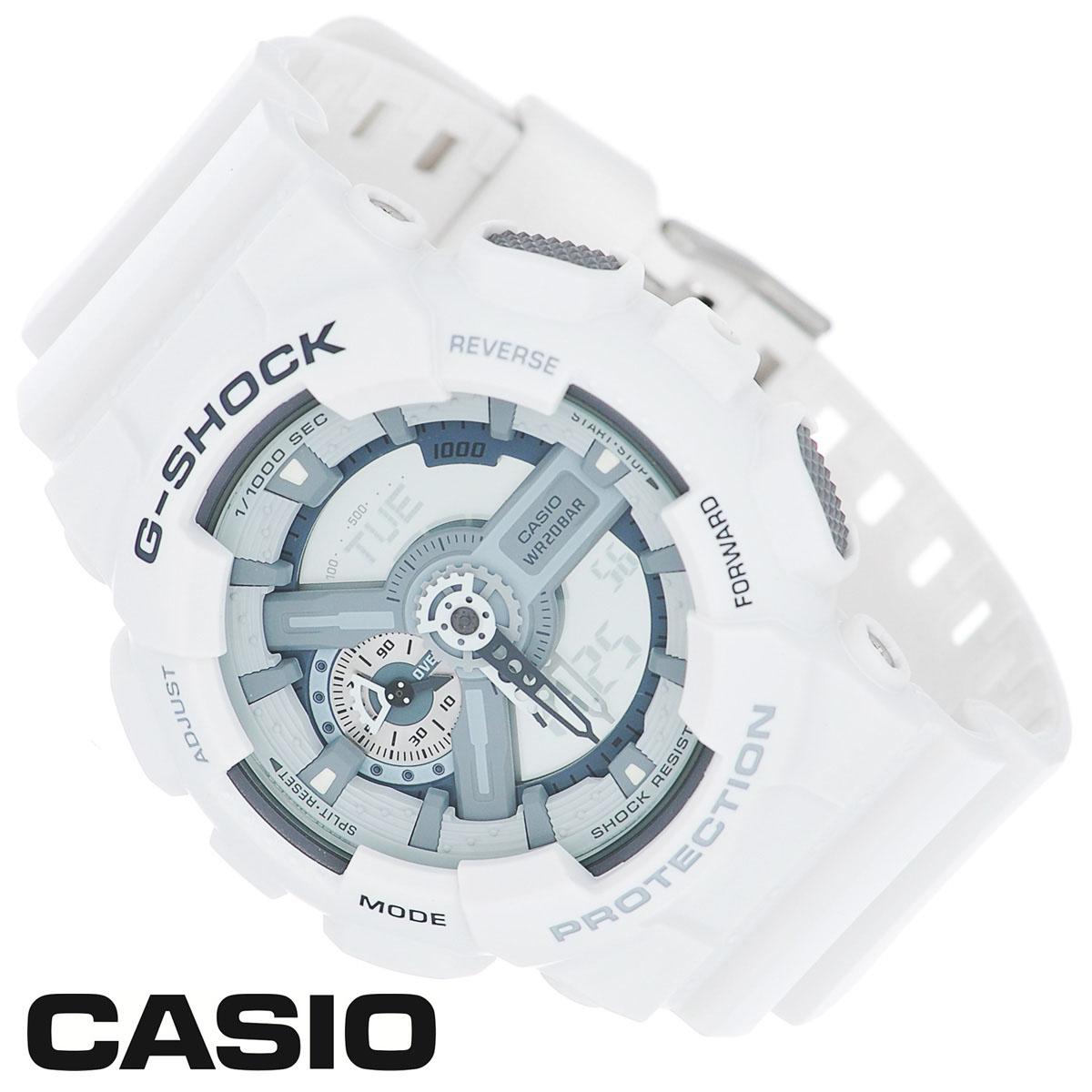 Часы мужские наручные Casio G-Shock, цвет: белый. GA-110C-7AJTZ2145 Dark blueСтильные часы G-Shock от японского брэнда Casio - это яркий функциональный аксессуар для современных людей, которые стремятся выделиться из толпы и подчеркнуть свою индивидуальность. Часы выполнены в спортивном стиле. Корпус имеет ударопрочную конструкцию, защищающую механизм от ударов и вибрации. Циферблат подсвечивается светодиодной автоматической подсветкой. Функция автоподсветки освещает циферблат при повороте часов к лицу. Ремешок из мягкого пластика имеет классическую застежку.Основные функции: -5 будильников, один с функцией Snooze, ежечасный сигнал; -автоматический календарь (число, месяц, день недели, год); -сплит-хронограф; -защита от магнитных полей; -секундомер с точностью показаний 1/1000 с, время измерения 100 часов; -12-ти и 24-х часовой формат времени; -таймер обратного отсчета от 1 мин до 24 ч с автоповтором; -мировое время.Часы упакованы в фирменную коробку с логотипом Casio. Такой аксессуар добавит вашему образу стиля и подчеркнет безупречный вкус своего владельца.Характеристики: Диаметр циферблата: 3,8 см.Размер корпуса: 5,5 см х 5,1 см х 1,7 см.Длина ремешка (с корпусом): 25 см.Ширина ремешка: 2,2 см. STAINLESS STELL BACK JAPAN MOVT Y CASED IN THAILAND.