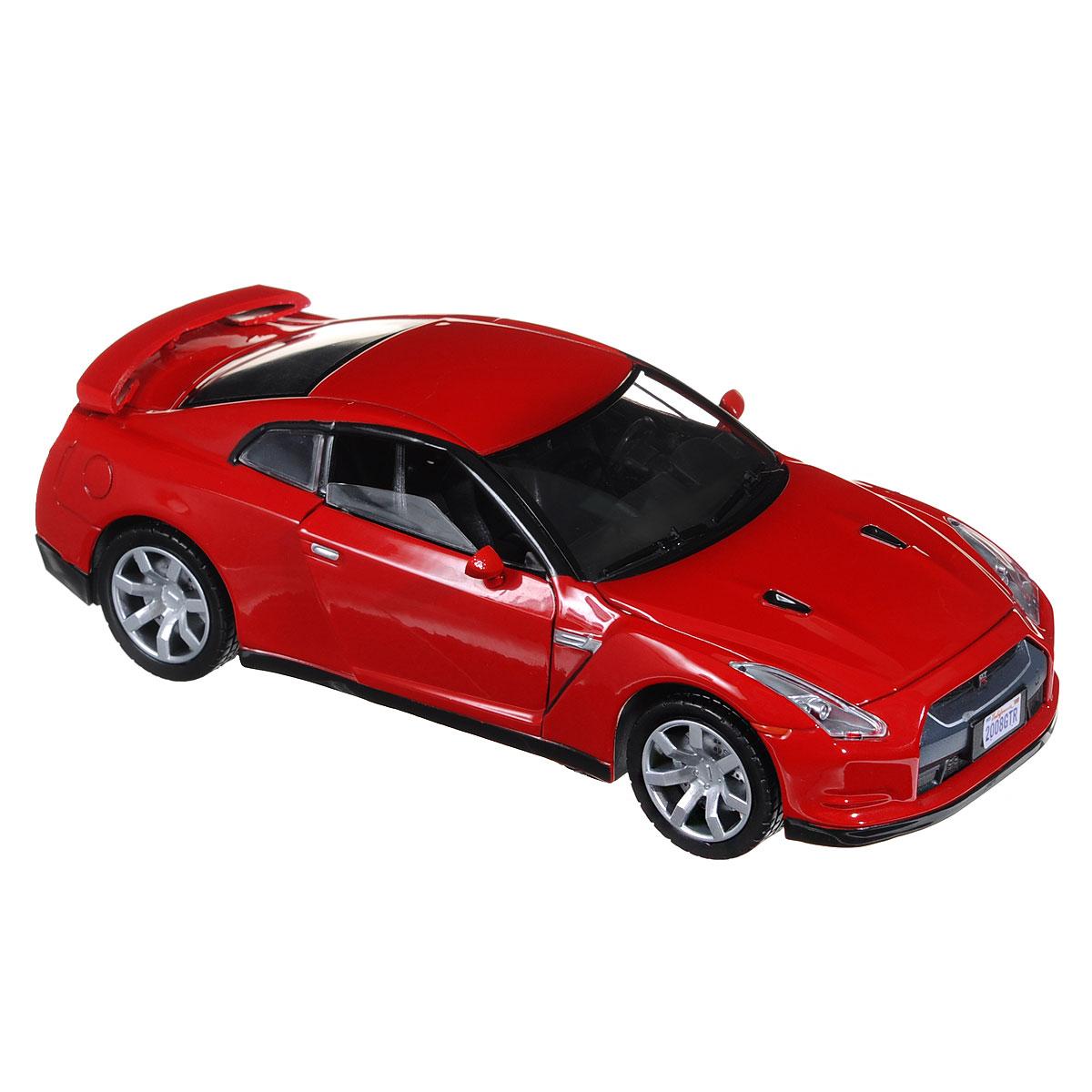 Коллекционная модель MotorMax Nissan GTR 2008, цвет: красный. Масштаб 1/24 motormax трансформирующийся в аэропорт