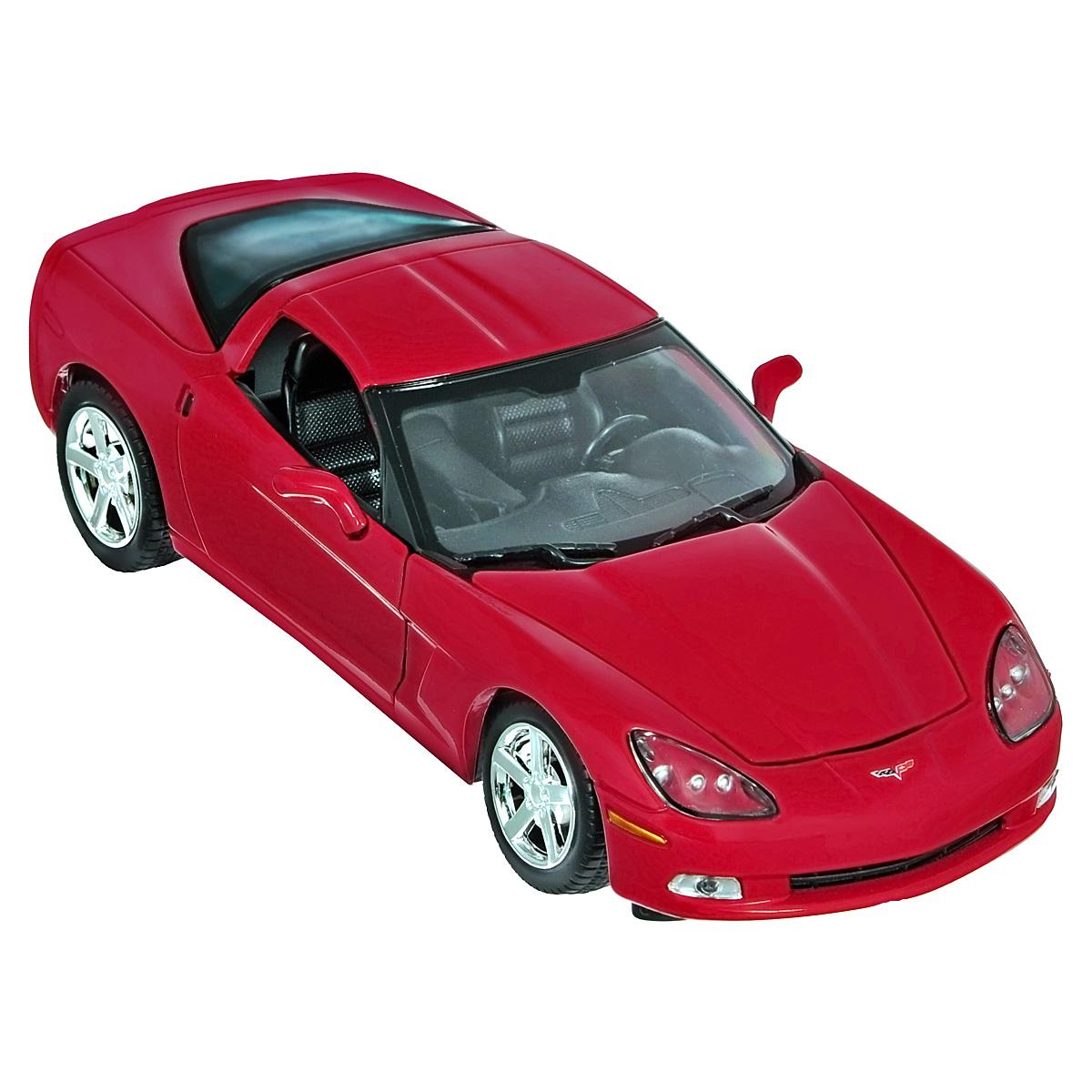 Коллекционная модель MotorMax 2005 Corvette C6, цвет: красный. Масштаб 1/24 motormax модель автомобиля corvette 1967 цвет черный