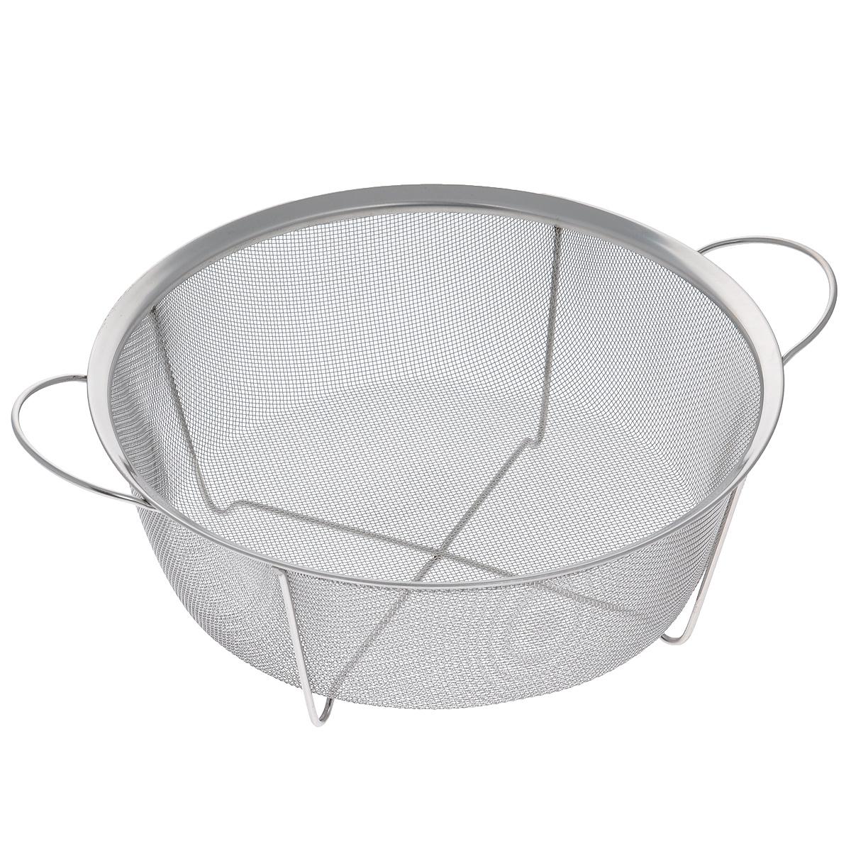 Сито Bekker, диаметр 28,5 см115510Сито Bekker, выполненное из нержавеющей стали, станет незаменимым аксессуаром на вашей кухне. Предназначено для просеивания и процеживания муки, промывания круп, ягод и фруктов. Сито оснащено удобными ручками. Прочная стальная сетка и корпус обеспечивают изделию износостойкость и долговечность. Благодаря ножкам изделие можно поставить прямо в раковину.Подходит для чистки в посудомоечной машине.