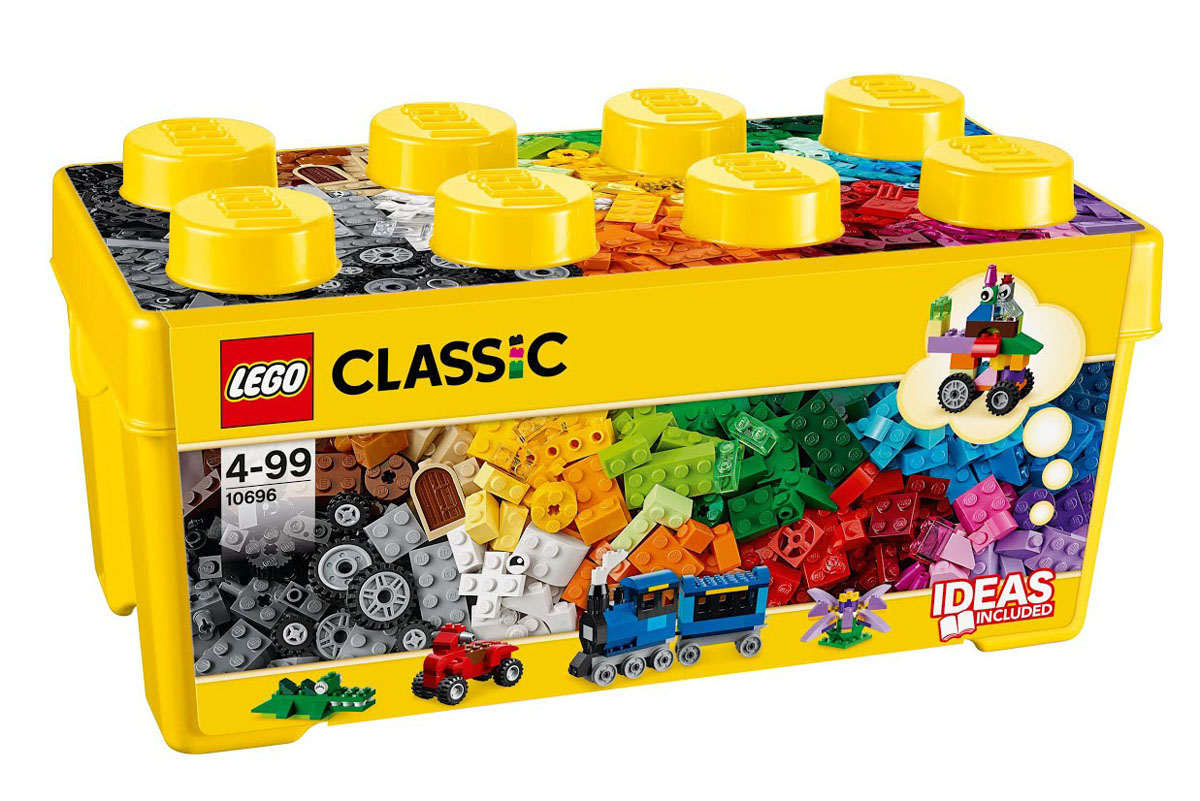 LEGO Classic Конструктор Набор для творчества среднего размера 10696 lego lego classic набор для творчества среднего размера
