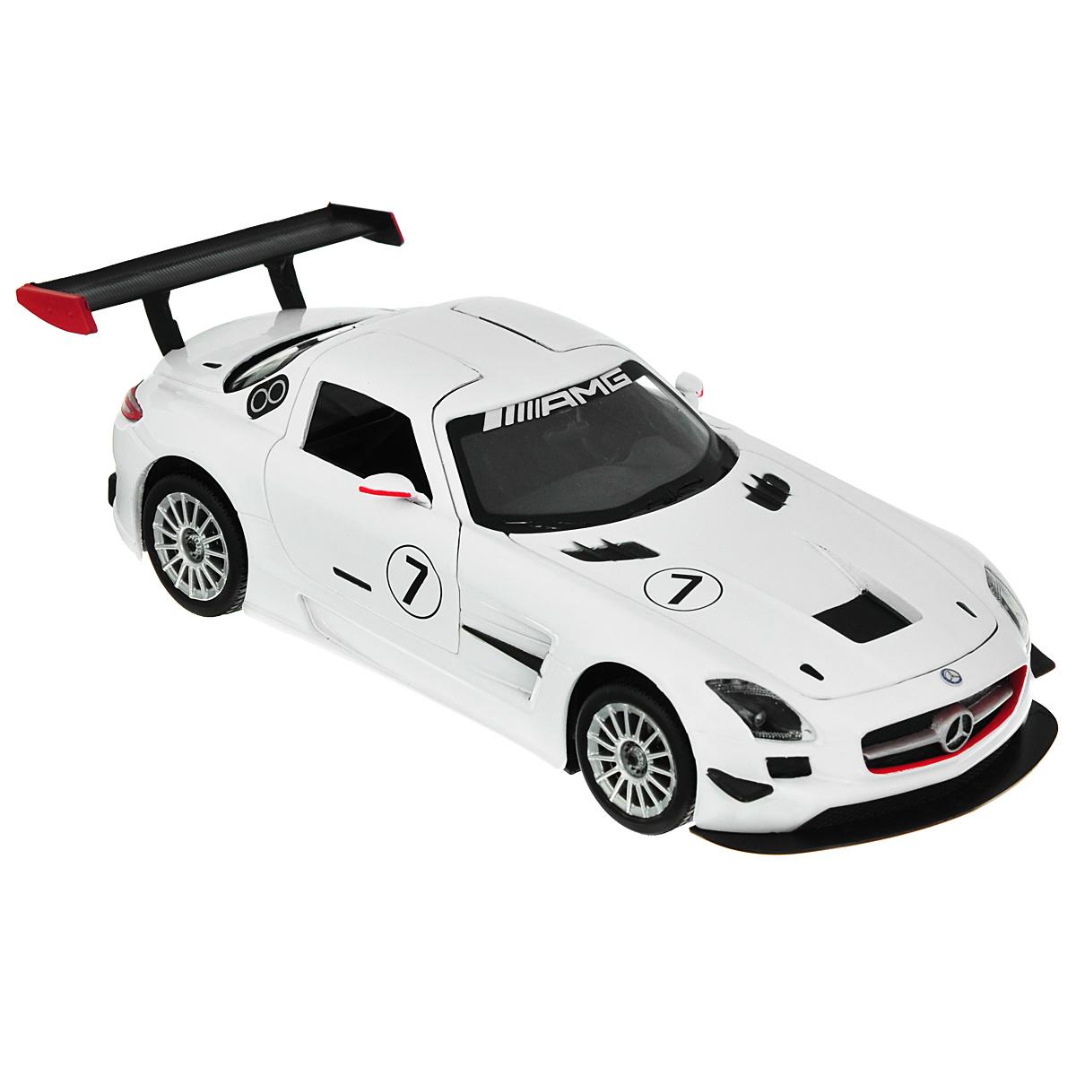 Коллекционная модель MotorMax GT Racing Mercedes-Benz SLS АMG GT3, цвет: белый. Масштаб 1/24 mercedes а 160 с пробегом