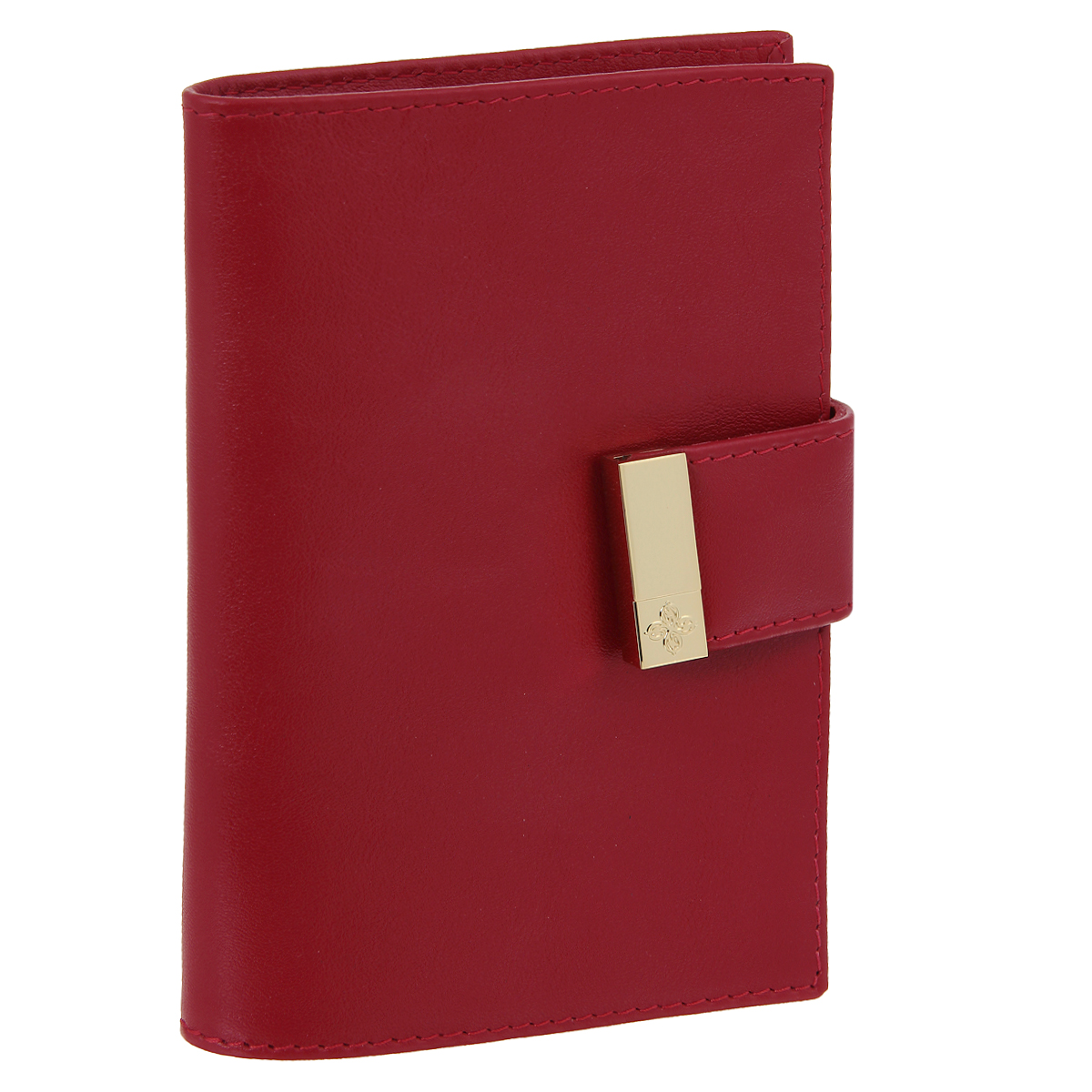Обложка для паспорта Dimanche Elite, цвет: красный. 0401-022_516Обложка для паспорта Dimanche Elite выполнена из натуральной высококачественной матовой кожи и закрывается хлястиком на застежку-кнопку. На внутреннем развороте два кармана из прозрачного пластика. Обложка упакована в фирменную картонную коробку. Такая обложка станет отличным подарком для человека, ценящего качественные и стильные вещи.