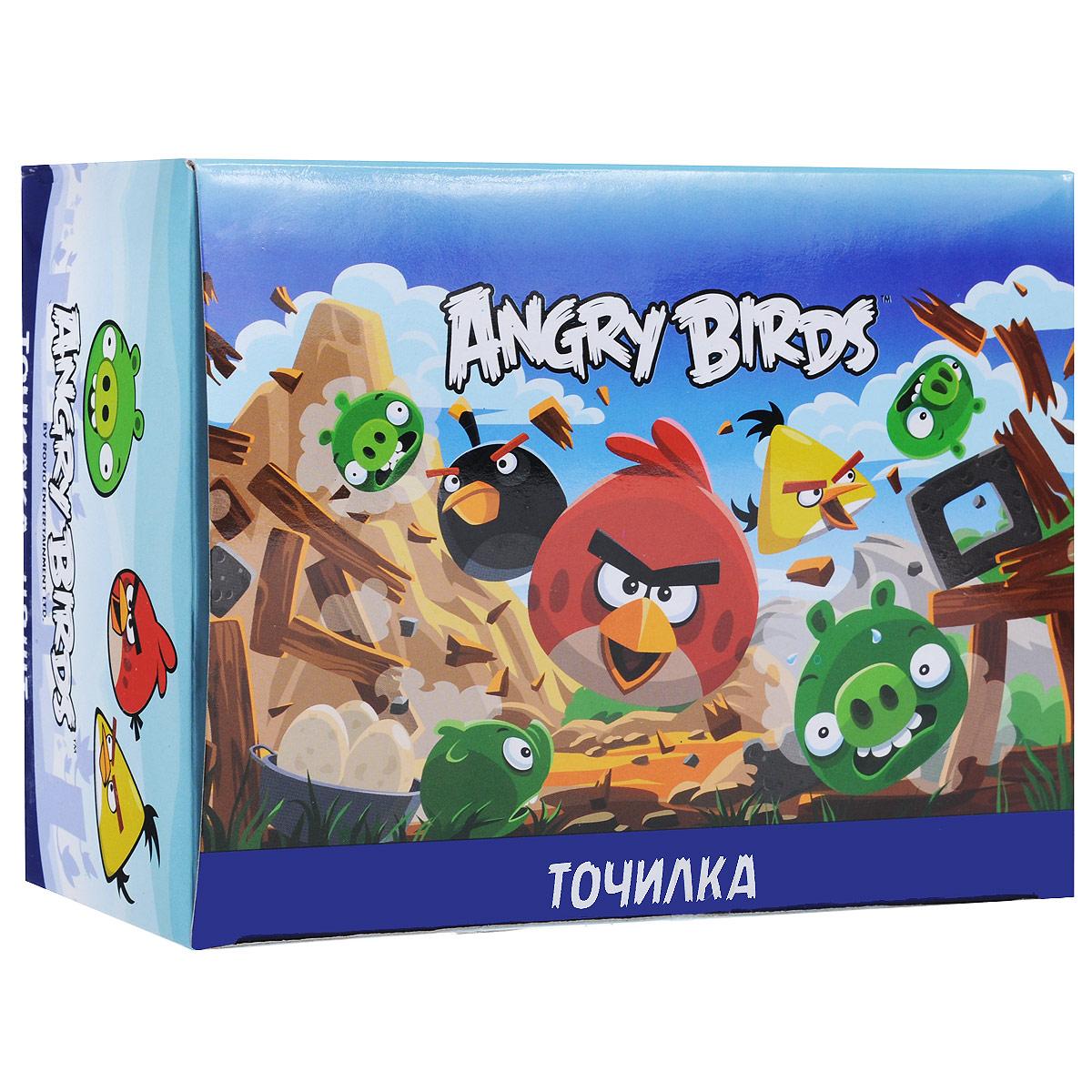 Точилки из набора Angry Birds предназначены для затачивания карандашей.  Круглые точилки выполнены из яркого пластика. Каждая точилка оформлена изображением одного из персонажей популярной компьютерной игры Angry Birds.В наборе 48 точилок красного, прозрачного и зеленого цветов (по 16 точилок каждого цвета).