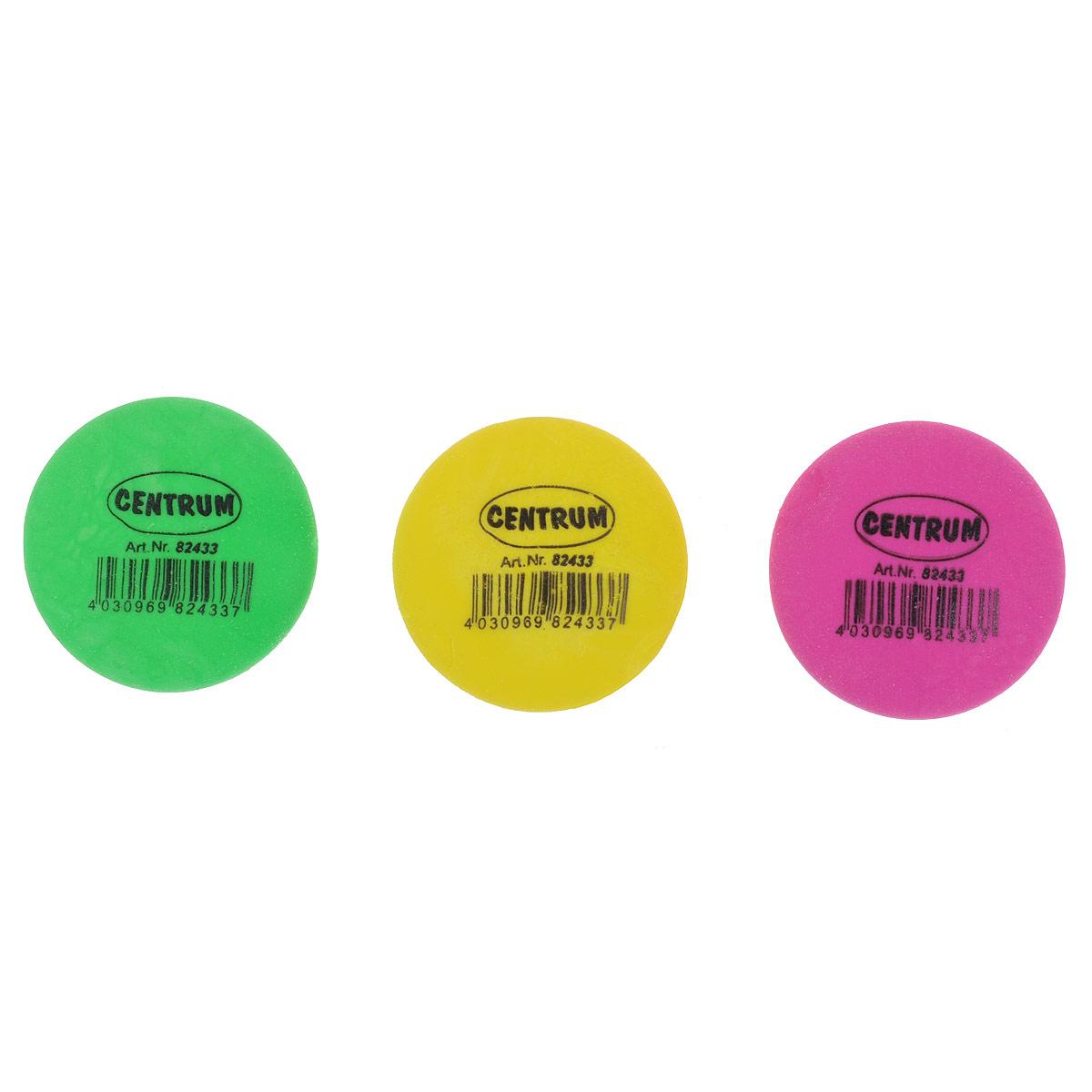 Набор ластиков Centrum Neon, 27 шт72523WDЛастики из набора Centrum Neon предназначены для стирания карандашей с бумаги различной плотности. Круглые ластики выполнены из синтетического каучука ярких неоновых цветов. В наборе 27 ластиков розового, желтого и зеленого цветов (по 7 ластиков каждого цвета), упакованных в отдельные пакеты.