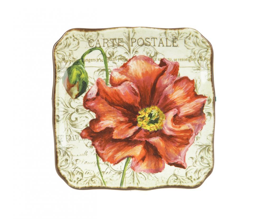 Набор из 4-х тарелок десертных 21,5 см Парижские маки, набор54 009312Американскую керамику отличает практичность и высокое качество исполнения каждого изделия. Посуда расписана вручную и покрыта глазурью, выполнена из экологически чистых материалов, что обеспечивает сохранение отменного вкуса каждого блюда и его длительное хранение. Эта керамическая посуда химически инертна, не вступает в реакцию с пищей, не выделяет вредных веществ при перегреве.