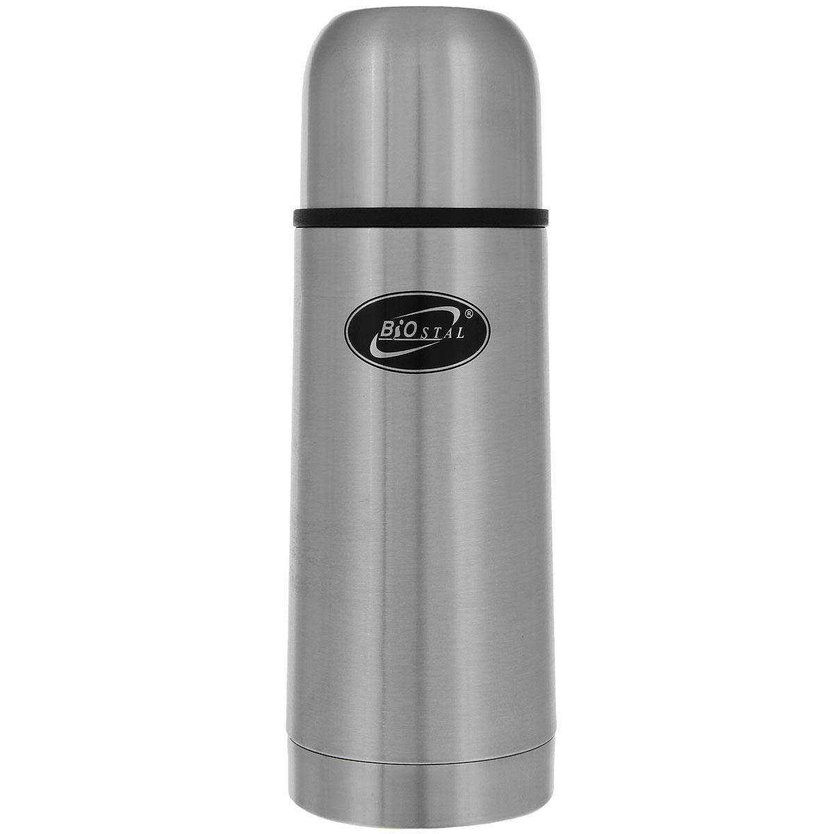 Термос Biostal, 350 мл. NB-350NB-350Термос с узким горлом Biostal NВ-350 относится к классической серии. Термосы этой серии, являющейся лидером продаж, просты в использовании, экономичны и многофункциональны. Термос предназначен для хранения горячих и холодных напитков (чая, кофе и пр.) и укомплектован двумя пробками (вторая пробка в подарок): пробка без кнопки надежна, проста в использовании и позволяет дольше сохранять тепло благодаря дополнительной теплоизоляции, пробка с кнопкой удобна в использовании и позволяет, не отвинчивая ее, наливать напитки после простого нажатия на кнопку.Особенности термоса:Легкий и прочный.Сохраняет напитки горячими или холодными долгое время.Изготовлен из высококачественной нержавеющей стали.