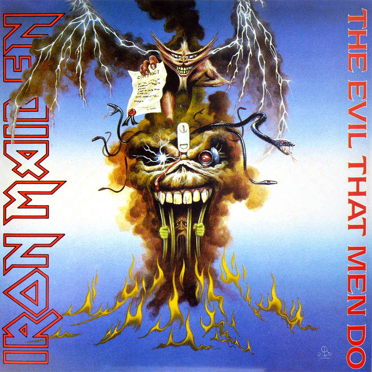 Iron Maiden Iron Maiden. The Evil That Men Do (LP) iron maiden the book of souls 3 lp