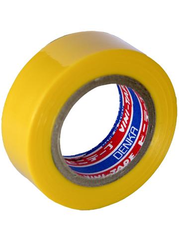 Лента изоляционная Denka Vini Tape, цвет: желтый, 19 мм х 9 м106-026Лента изоляционная Denka Vini Tape используется для работы с проводкой и изоляцией, бытовых нужд, в качестве защитного покрытия и т.д.