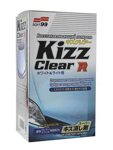 Полироль для кузова восстанавливающий Soft99 Kizz Clear R W&L для светлых а/м, 270 мл314341Восстанавливающая полироль для кузова (для светлых автомобилей) Kizz Clear. Средство, избавляющее от царапин. Прозрачная смола заделывает царапины и придает блеск. Защищает корпус от вредного воздействия ультрафиолетовых лучей, кислотных осадков и выгорания. Водоотталкивающий эффект! Машина заблестит как новая поверхность приобретет зеркальный блеск. Не содержит абразива. Прилагается специальная мелкопузырьковая губка, делающая процесс нанесения полировки легким и приятным. Разделите губку на две части. Если одна половина губки испачкалась, воспользуйтесь второй. Губку можно мыть водой и после сушки использовать повторно. Эффект от применения Kizz Clear на 150% выше, чем эффект от применения других аналогичных средств.