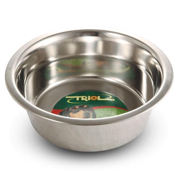 Миска для животных Triol, 750 мл0120710Металлическая миска Triol удобнее пластмассовой тем, что она тяжелее и поэтому не переворачивается. Миска легко моется. Диаметр основания: 11,5 см. Высота: 6,5 см. Объем: 750 мл.