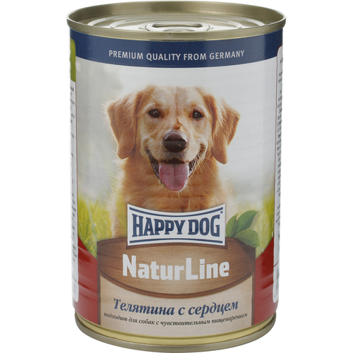 Консервы для собак Happy Dog Natur, с телятиной и сердцем, кусочки в соусе, 400 г15875Консервы для собак Happy Dog Natur с телятиной и сердцем хорошо усваиваются и обладают невероятно привлекательным вкусом, который обязательно оценит даже привередливый питомец. Это полностью мясные консервы, дополненные сбалансированным комплексом витаминов и минералов, необходимых для правильного функционирования всего организма. Немаловажной особенностью консервов является наличие только одного источника животного белка и отсутствие в составе сои, искусственных красителей и консервантов, что положительно сказывается на полезных свойствах консервов (в том числе существенно уменьшается вероятность возникновения аллергических реакций). Консервы для собак Happy Dog Natur приготовлены из отборной телятины по уникальной технологии, позволяющей сохранить питательные свойства и вкусовые качества продукта. Полезные свойства телятины весьма обширны и обусловлены наличием в составе большого количества жизненно необходимых витаминов и минералов. Витамины группы B участвуют во всех протекающих в организме обменных процессах, оказывают положительное воздействие на работу центральной нервной и пищеварительной систем, регулируют уровень холестерина и глюкозы, улучшают усвояемость минеральных веществ, способствуют нормализации работы печени, развитию мышечной и костной систем. Кобальт и железо участвуют в образовании гемоглобина. Фтор, кальций и фосфор укрепляют кости и зубы. Медь помогает организму бороться с воспалительными процессами и улучшает усвояемость железа. Цинк среди прочего является эффективным средством лечения и профилактики дерматозов. Сера повышает сопротивляемость организма бактериям, регулирует выработку желчи, необходимой для переваривания пищи, содействует продлению молодости животного и участвует в синтезе коллагена - белка, необходимого для здоровья и красоты кожи и шерсти.Состав: телятина, сердце, витаминно-минеральная комплекс, растительное масло.Питательные вещества: прот