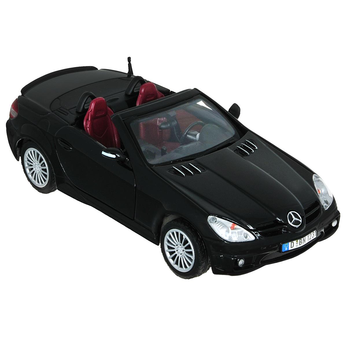Коллекционная модель MotorMax Mercedes Benz SLK55 АMG, цвет: черный. Масштаб 1/24 welly модель автомобиля mercedes benz g63 amg 6x6 масштаб 1 24 цвет бежевый