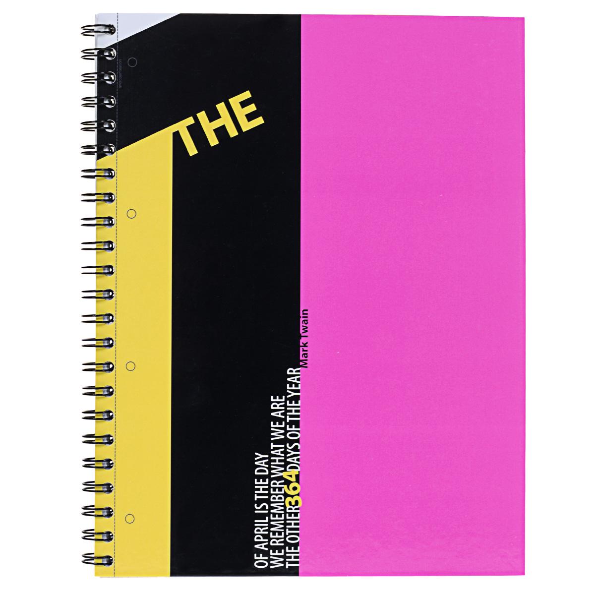 Тетрадь на спирали, 120л Муранское стекло,УФ-лак , розовая (один)72523WDтетрадь на спирали,120л Муранское стекло, УФ-лак ,розовая (один)