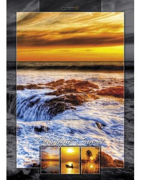 HD Бизнес-блокнот 80л А4ф 80 гр/кв.м клетка тв.переплет -Прекрасный закат-0703415Премиум Бизнес-блокнот в твердом переплёте. Листаж - 80 листов А4 формата. Тип разметки: В клетку; тип бумаги: Шелковисто-матовая; формат: А4; обложка: Книжная; пол: унисекс; упаковка: Коробка картонная