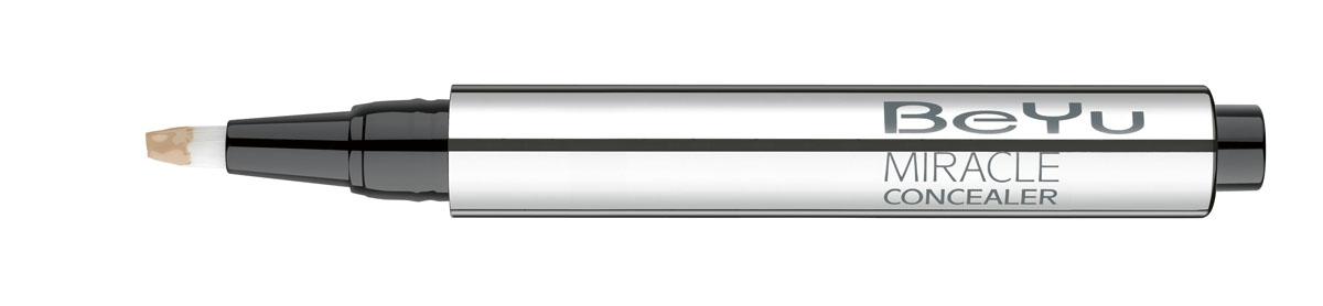 BeYu Консилер Hydro Miracle Concealer, увлажняющий, тон №4, 2,5 мл28032022Увлажняющий консилер BeYu Hydro Miracle Concealer быстро и эффективно скрывает темные круги под глазами.Светоотражающие частицы скрывают морщинки и мелкие несовершенства кожи, создавая идеальный ровный тон. Инновационный состав увлажняет и защищает нежную кожу вокруг глаз.Благодаря аппликатору в форме кисти и легкой текстуре, консилер легко наносить на зону вокруг глаз и обеспечивает комфорт в течении всего дня.Научные тесты показали, что при ежедневном использовании (28 дней) повышается увлажненность кожи увеличивается на 37%, кожа становится более эластичной. Подходит для чувствительной кожи. Товар сертифицирован.