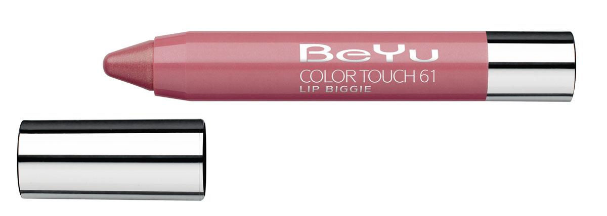 BeYu Блеск-бальзам для губ Color Touch Lip Biggie, тон №61, 2.8 г114302Блеск-бальзам для губ Color Touch Lip Biggie сочетает в себе помаду, блеск и бальзам для губ, который бережно ухаживает за кожей губ, придавая им нежное сияние.Блеск-бальзам для губ имеет выкручивающийся механизм.