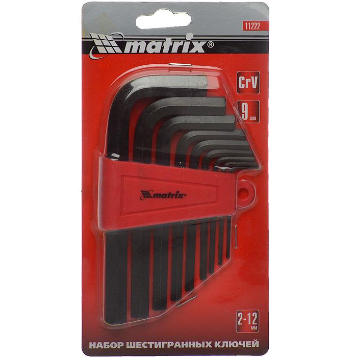 Набор шестигранников Matrix, оксидированных, 9 шт98298130Набор ключей-шестигранников Matrix предназначен для работы с крепежом, оснащенным внутренним шестигранным гнездом. Хромованадиевая сталь позволяет выдерживать длительные интенсивные нагрузки.В комплекте удобная клипса для хранения и транспортировки.В состав набора входят ключи размером: 2 мм, 2,5 мм, 3 мм, 4 мм, 5 мм, 6 мм, 8 мм, 10 мм, 12 мм.