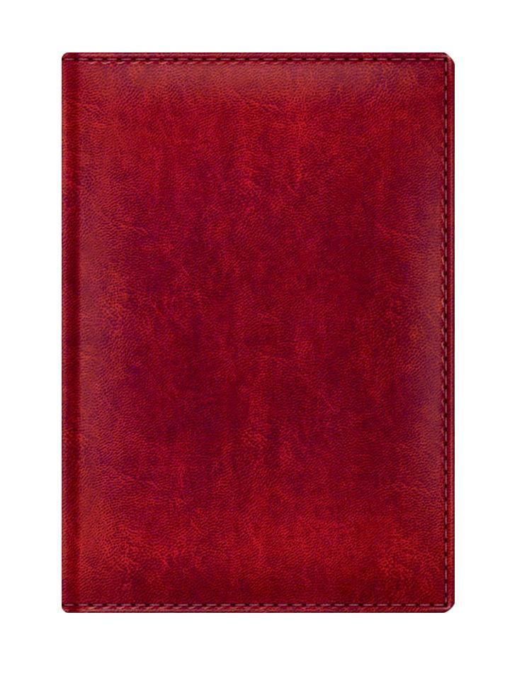 Материал обложка имитирует естественную фактуру кожи, имеет мягкий благородный блеск. Датированный внутренний блок с вырубкой - 352 страницы, прошитый переплёт, каптал, бумага-офсет высокой степени белизны, печать в две краски, перфорированные уголки, шел