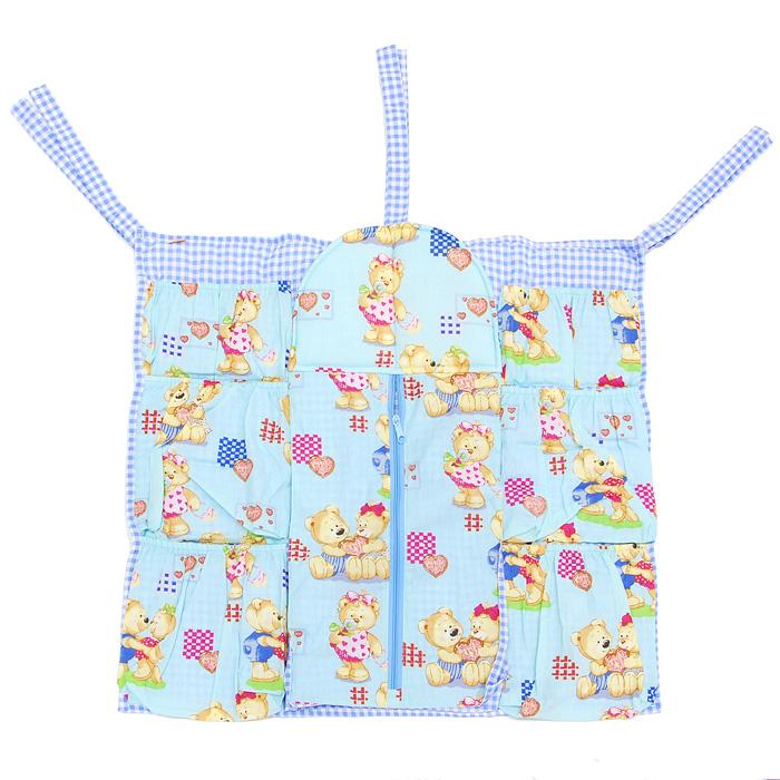 Коврик-шкафчик Чудо-Чадо  Мишутка  на детскую кроватку, цвет: голубой - Детская комната