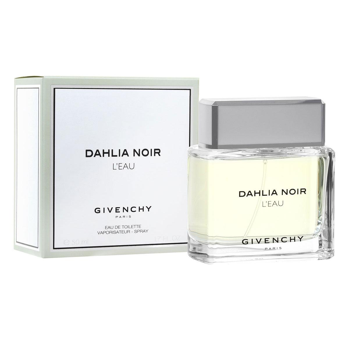 Givenchy Туалетная вода Dahlia Noir Leau, женская, 50 мл5215Аромат Dahlia Noir LEau от Givenchy таит в себе нежную чистоту и удивительную романтичность. Аромат очарует вас легкостью и женственностью своего звучания, подарит ощущение гармонии и счастья. Композиция аромата построена удивительно гармонично, каждая нота становится естественным продолжением предыдущей. Классификация аромата: шипровый, цветочный.Пирамида аромата:Верхние ноты: цитрусовые, нероли.Ноты сердца: роза.Ноты шлейфа: пачули, белый кедр, мускус. Ключевые словаЧистый, женственный, нежный.Туалетная вода - один из самых популярных видов парфюмерной продукции. Туалетная вода содержит 4-10%парфюмерного экстракта. Главные достоинства данного типа продукции заключаются в доступной цене, разнообразии форматов (как правило, 30, 50, 75, 100 мл), удобстве использования (чаще всего - спрей). Идеальна для дневного использования.Товар сертифицирован.