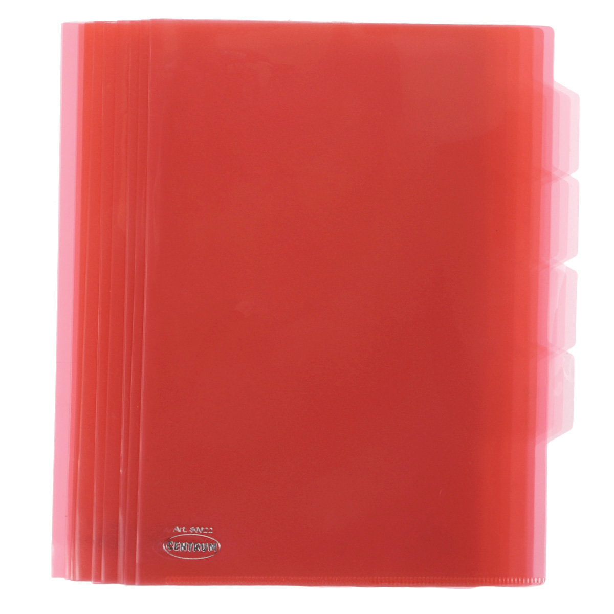 Папка-уголок Сentrum, 3 отделения, цвет: красный. Формат А4, 10 штAC-1121RDПапка-уголок Centrum - это удобный и практичный офисный инструмент, предназначенный для хранения и транспортировки рабочих бумаг и документов формата А4. Папка изготовлена из прозрачного глянцевого пластика, имеет три отделения с индексами-табуляторами. В комплект входят 10 папок формата А4. Папка-уголок - это незаменимый атрибут для студента, школьника, офисного работника. Такая папка надежно сохранит ваши документы и сбережет их от повреждений, пыли и влаги.