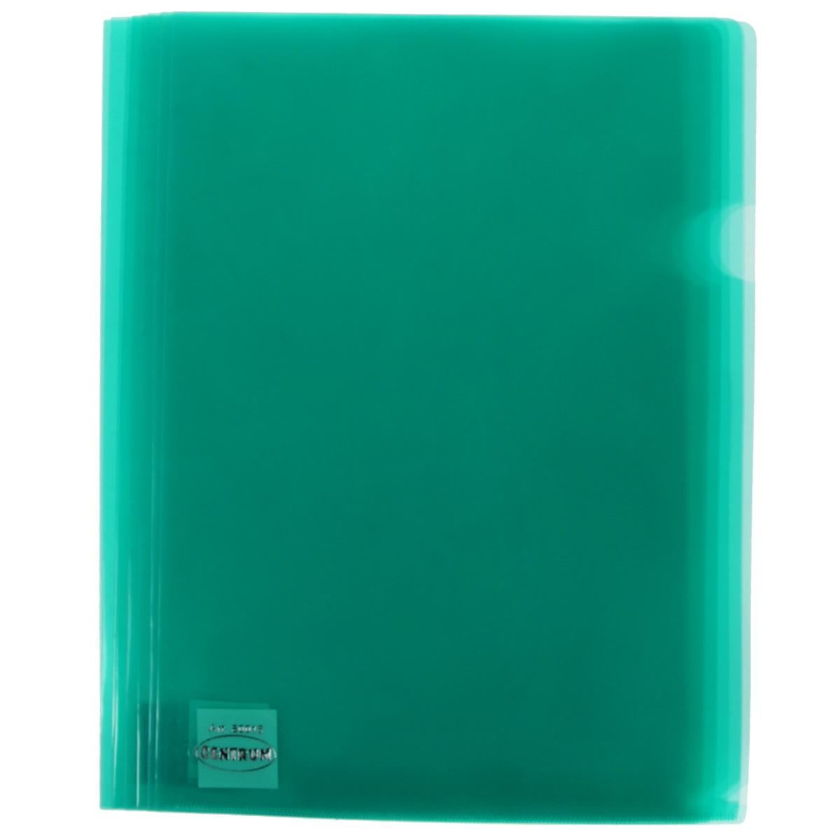 Папка-уголок Сentrum, 3 отделения, цвет: зеленый. Формат А4, 10 штAG4_12317Папка-уголок Centrum - это удобный и практичный офисный инструмент, предназначенный для хранения и транспортировки рабочих бумаг и документов формата А4. Папка изготовлена из прозрачного глянцевого пластика, имеет три отделения с индексами-табуляторами. В комплект входят 10 папок формата А4. Папка-уголок - это незаменимый атрибут для студента, школьника, офисного работника. Такая папка надежно сохранит ваши документы и сбережет их от повреждений, пыли и влаги.